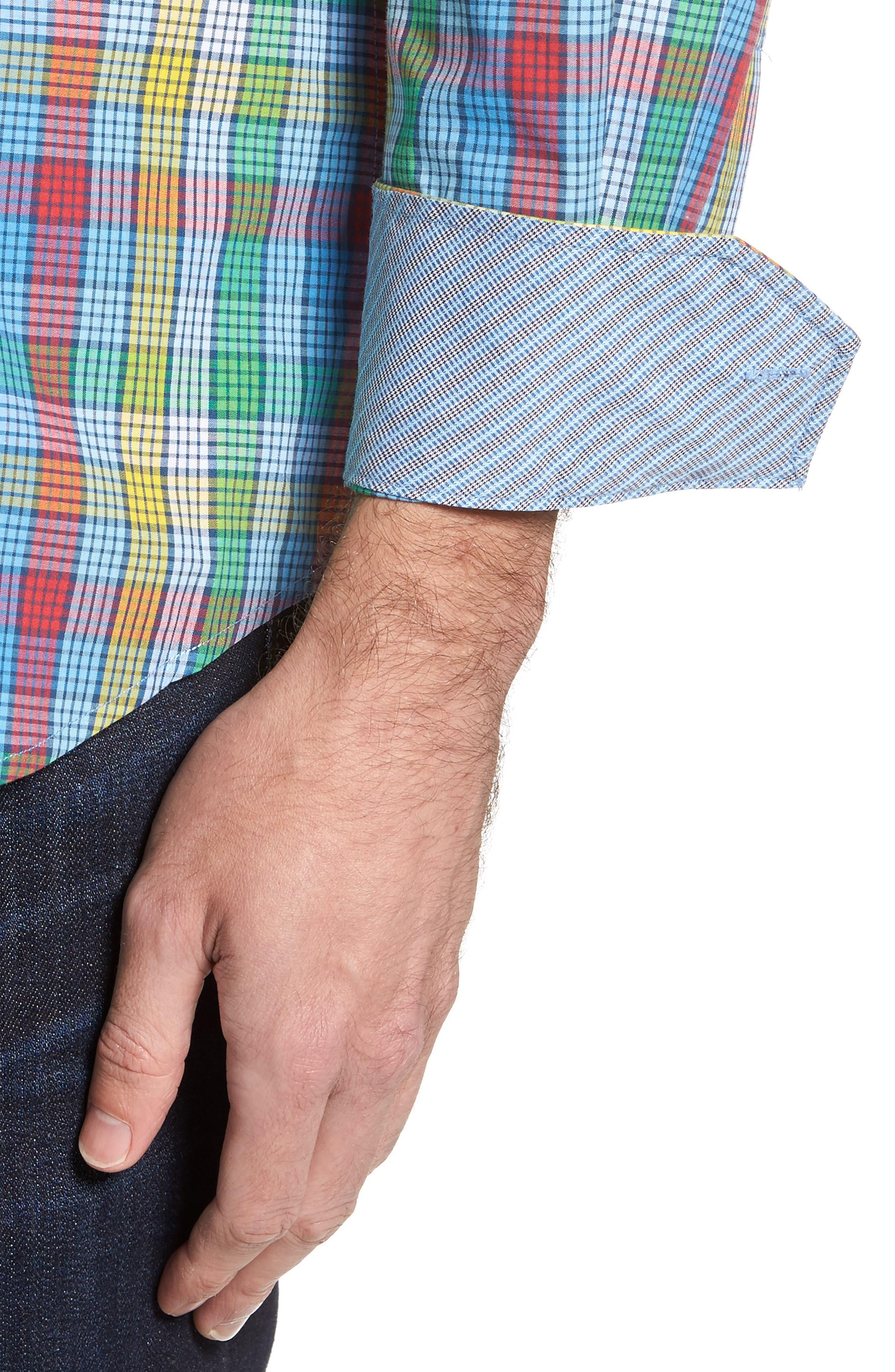Alternate Image 4  - TailorByrd Belmont Check Sport Shirt