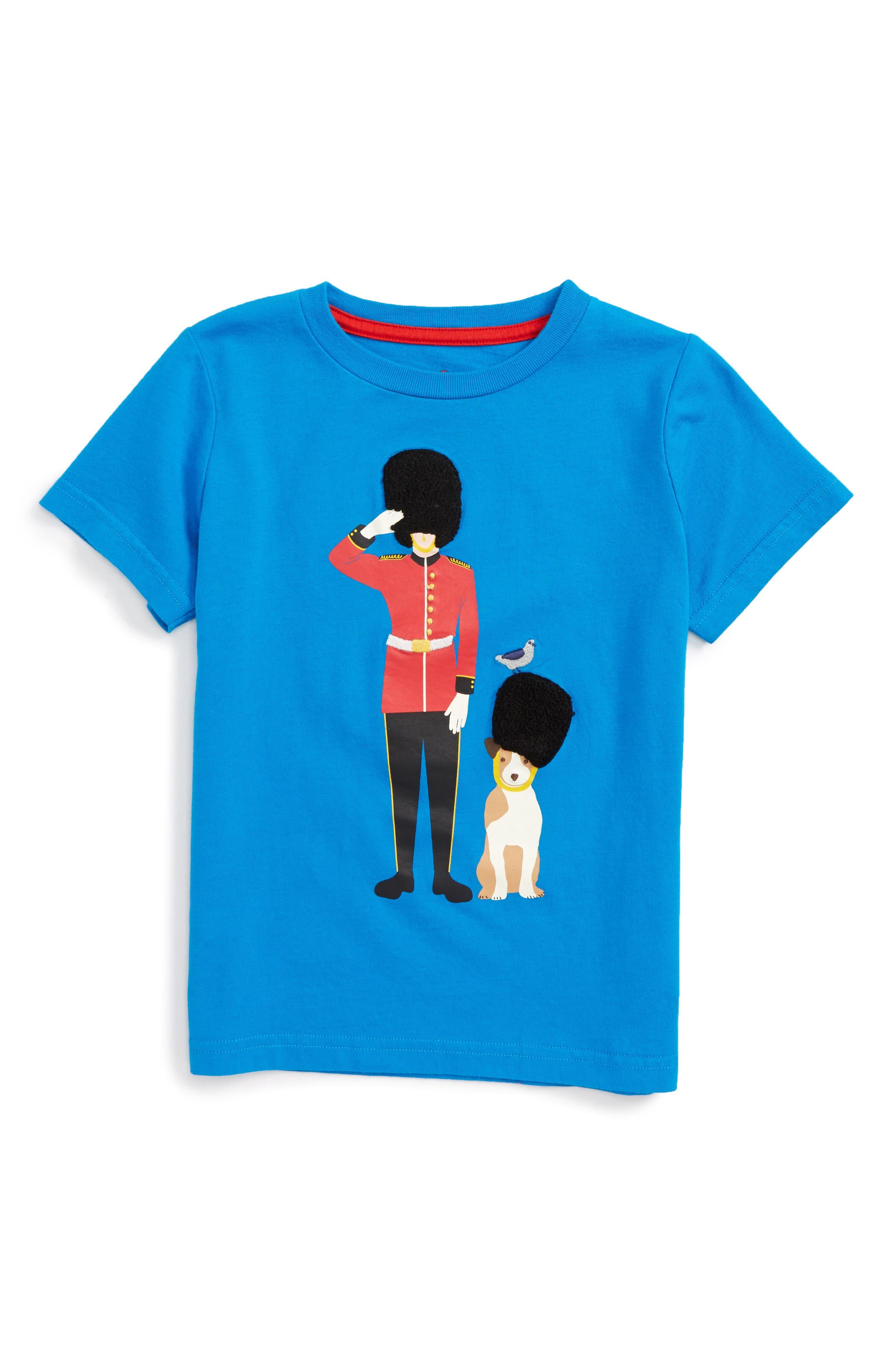 Alternate Image 1 Selected - Mini Boden Great British Guard Graphic T-Shirt (Toddler Boys, Little Boys & Big Boys)