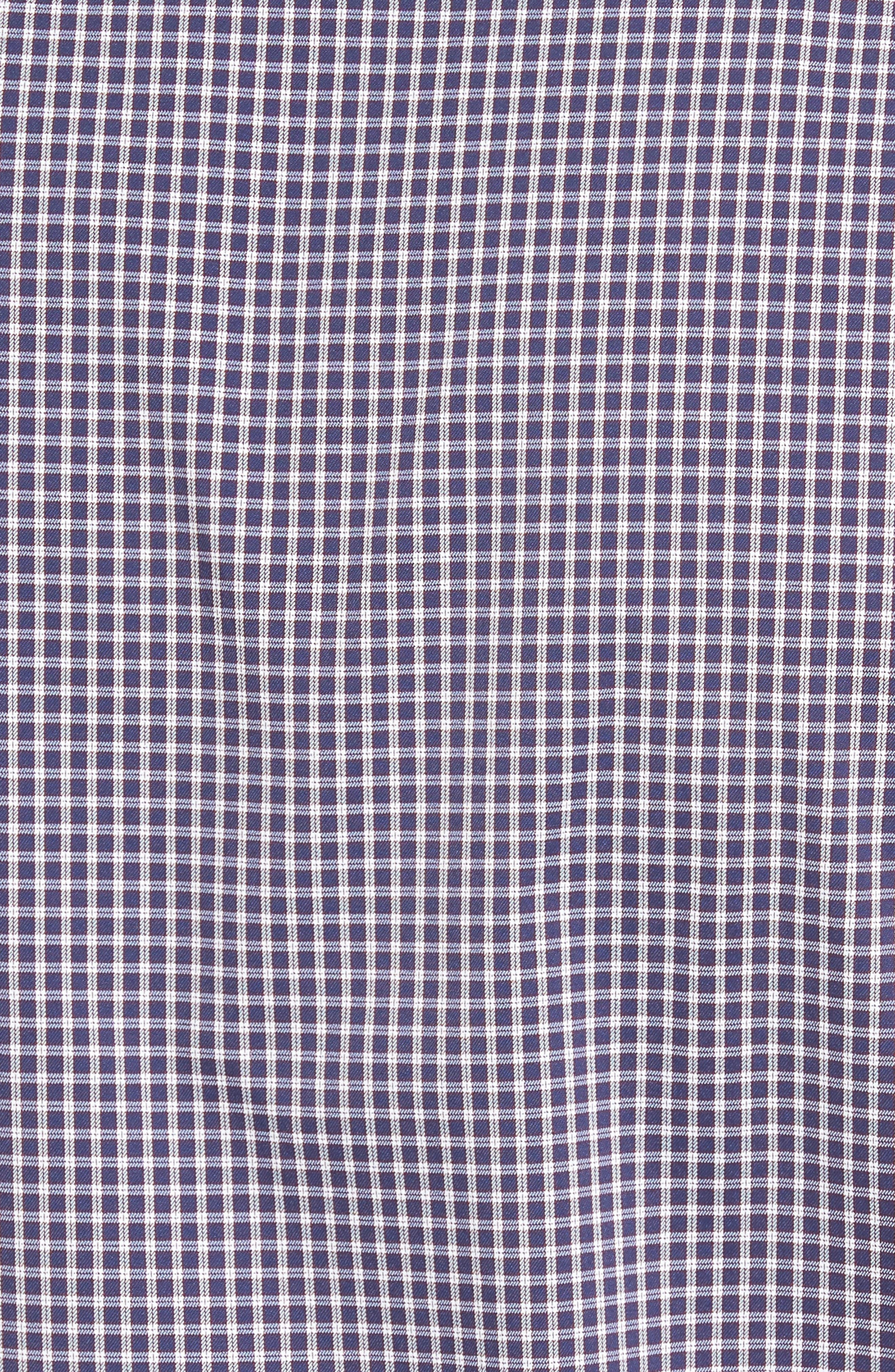 Alternate Image 5  - Peter Millar Statler Regular Fit Check Performance Sport Shirt