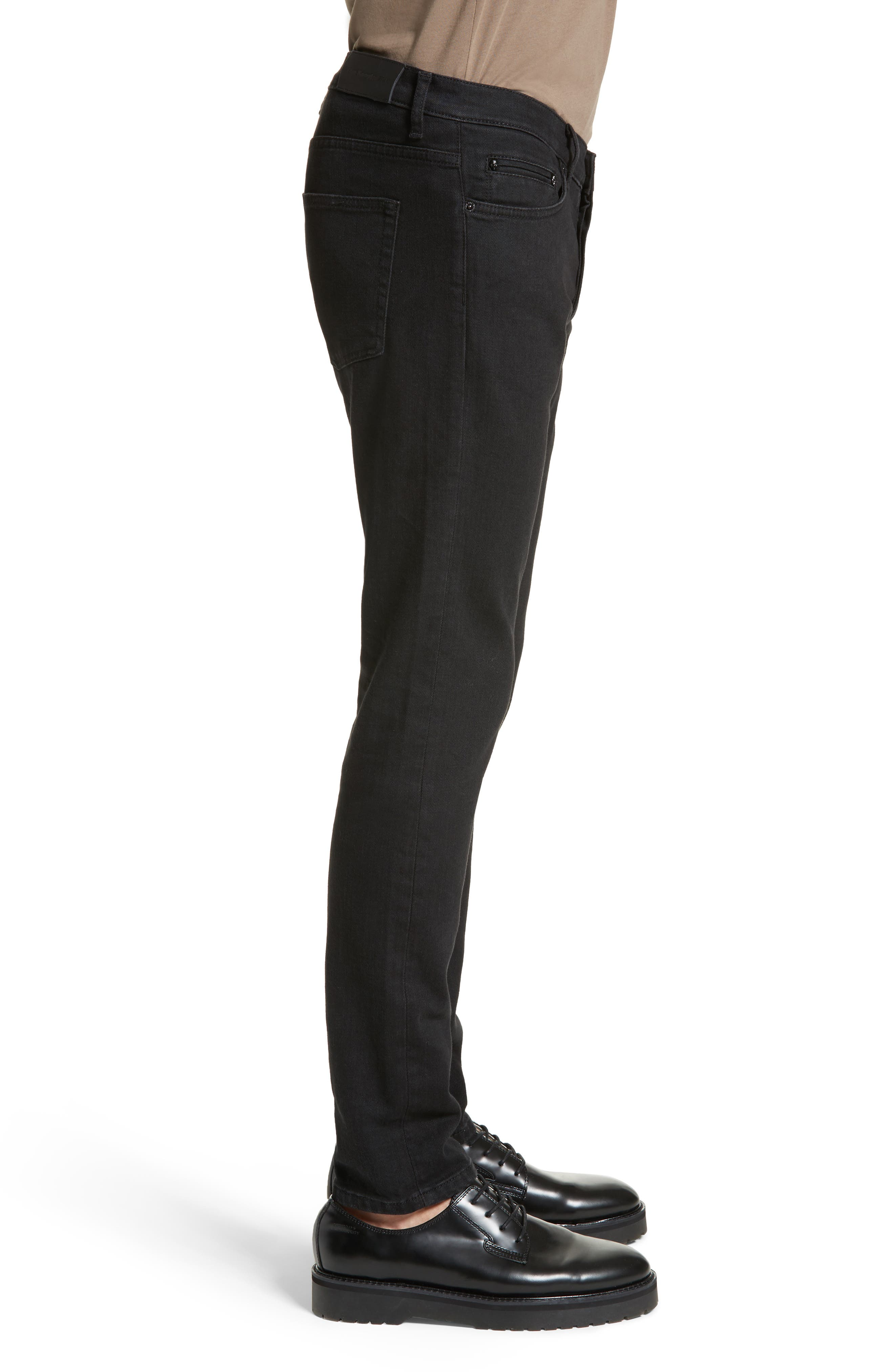 Embroidered Slim Fit Jeans,                             Alternate thumbnail 3, color,                             Black