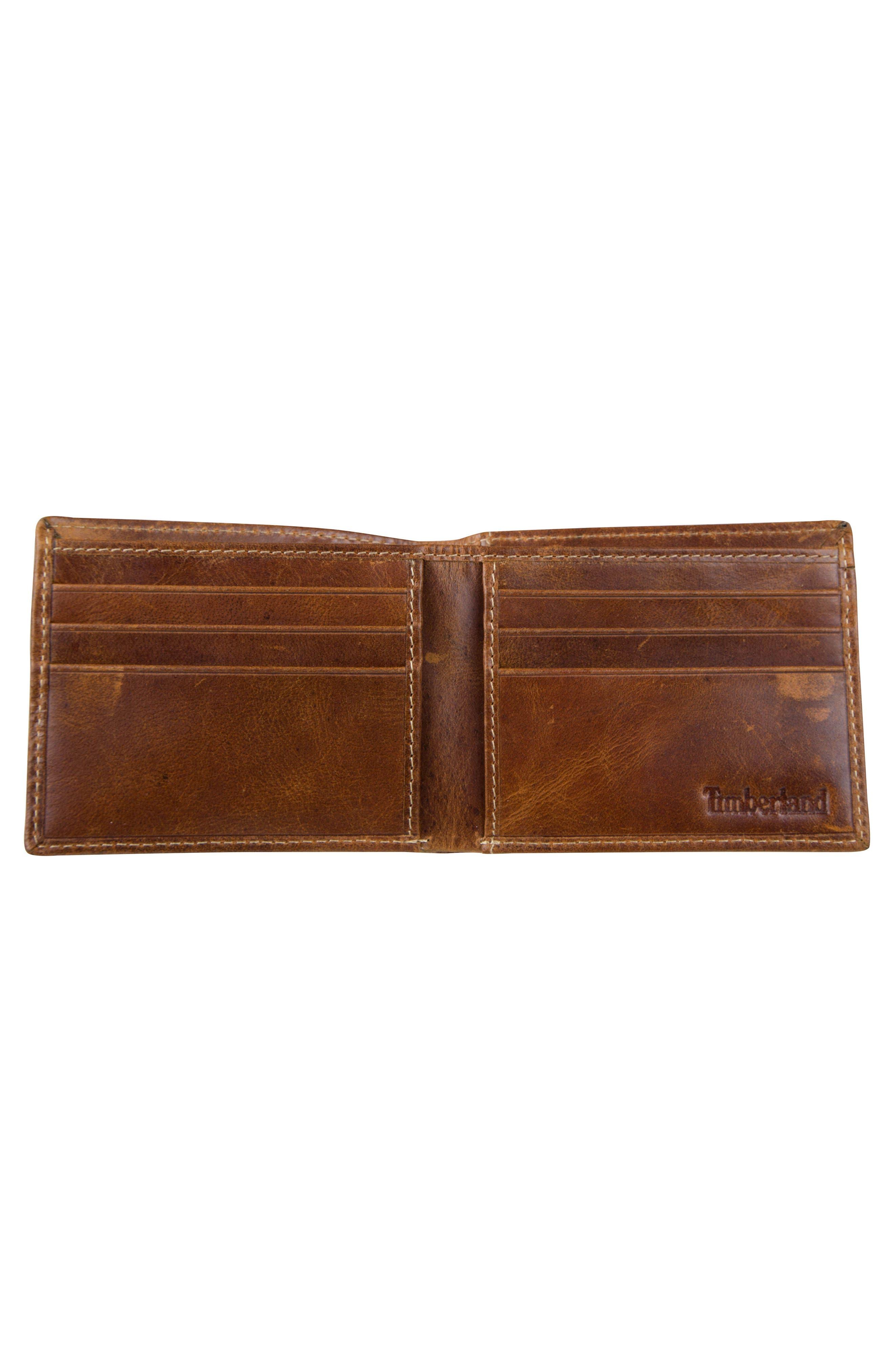 Leather Wallet,                             Alternate thumbnail 2, color,                             Cognac