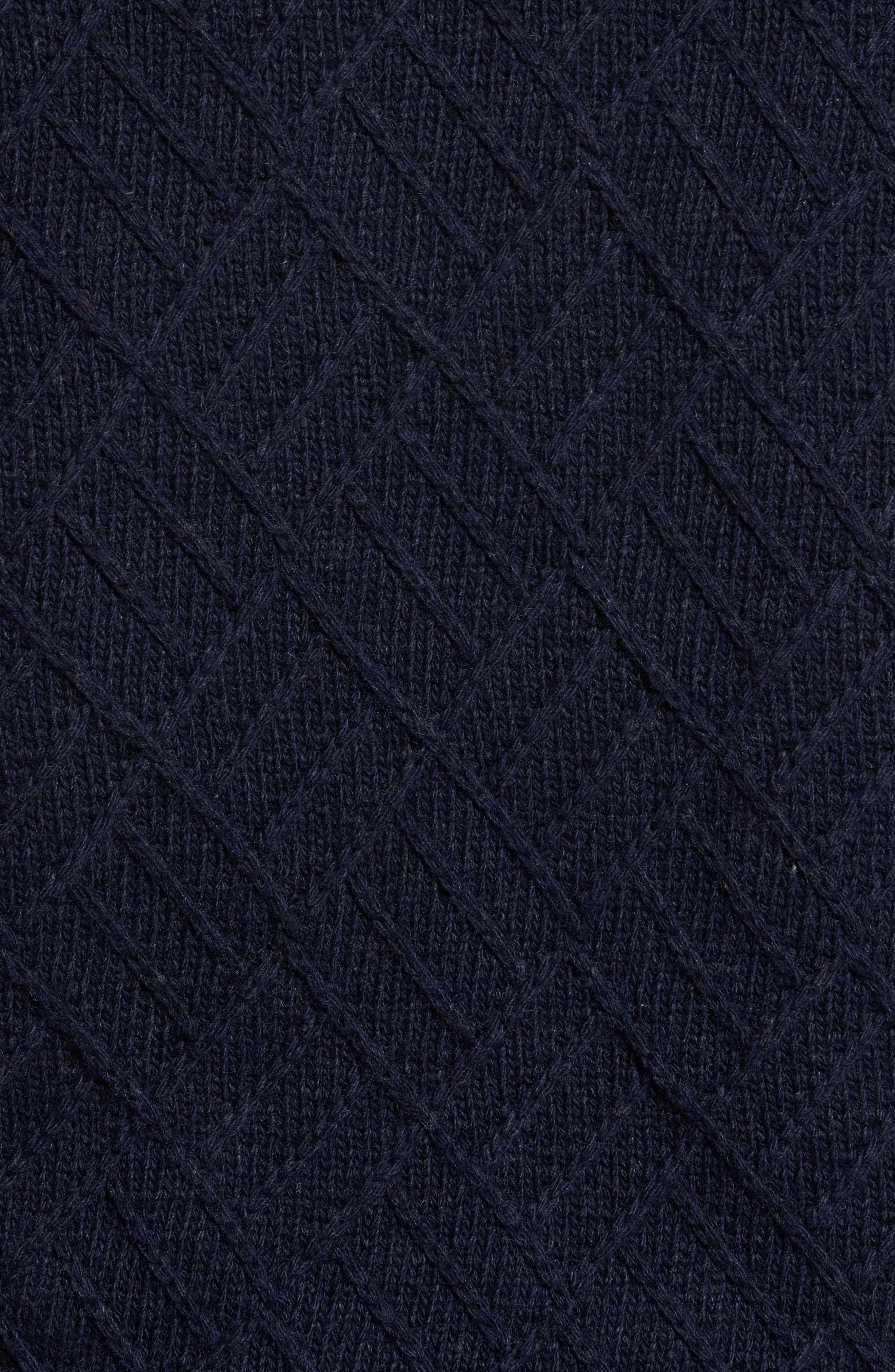 Textured Wool Sweater,                             Alternate thumbnail 5, color,                             Navy