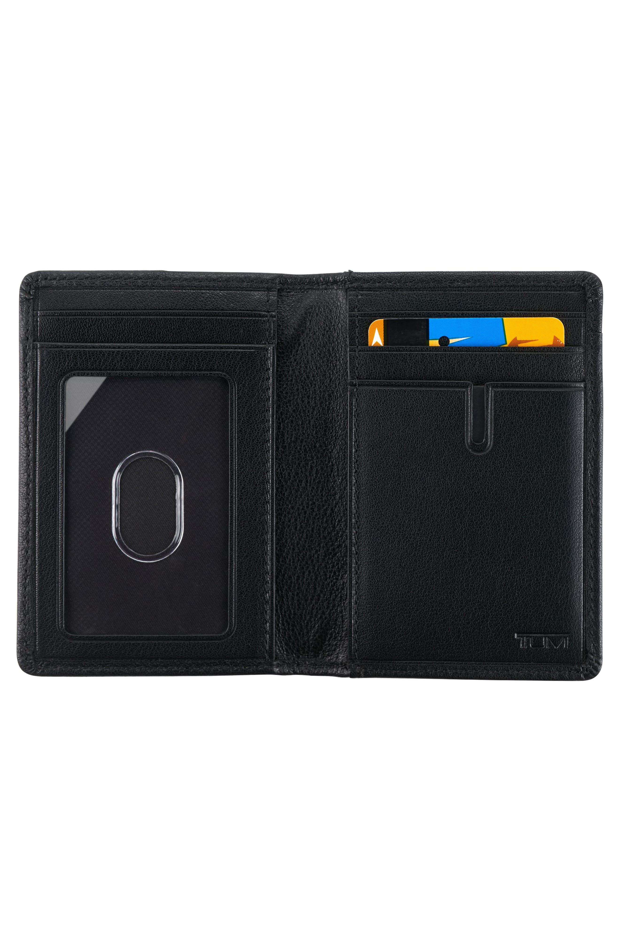 Leather Card Case,                             Alternate thumbnail 2, color,                             Black Textured
