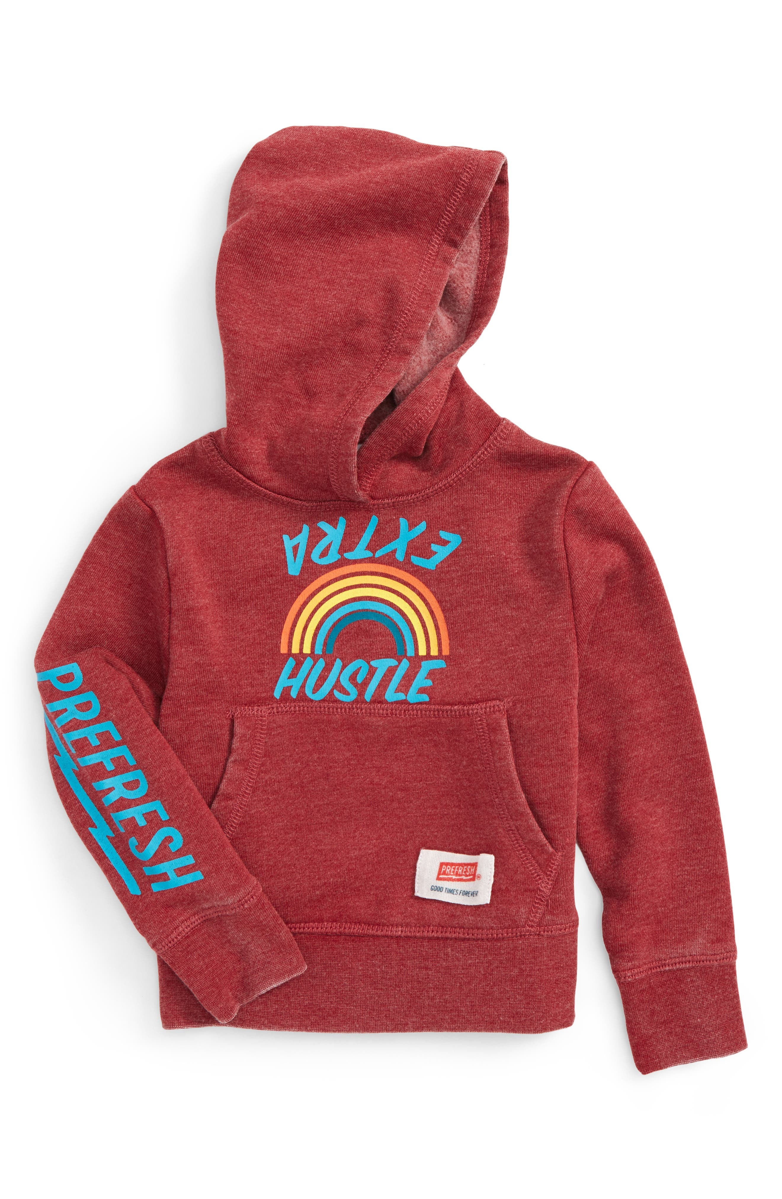 Alternate Image 1 Selected - Prefresh Extra Hustle Graphic Sweatshirt (Baby Boys)