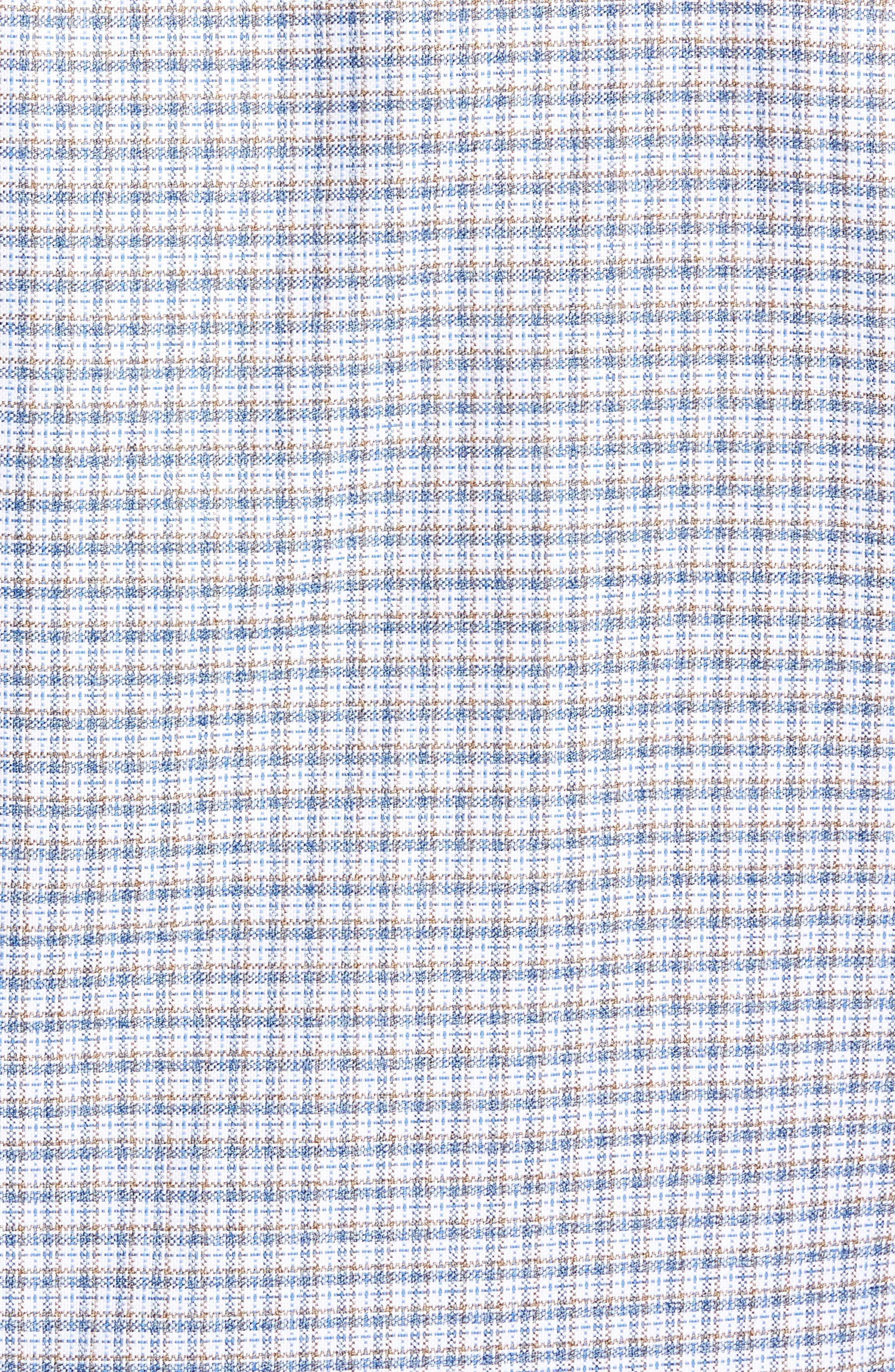Regular Fit Plaid Sport Shirt,                             Alternate thumbnail 5, color,                             Blue