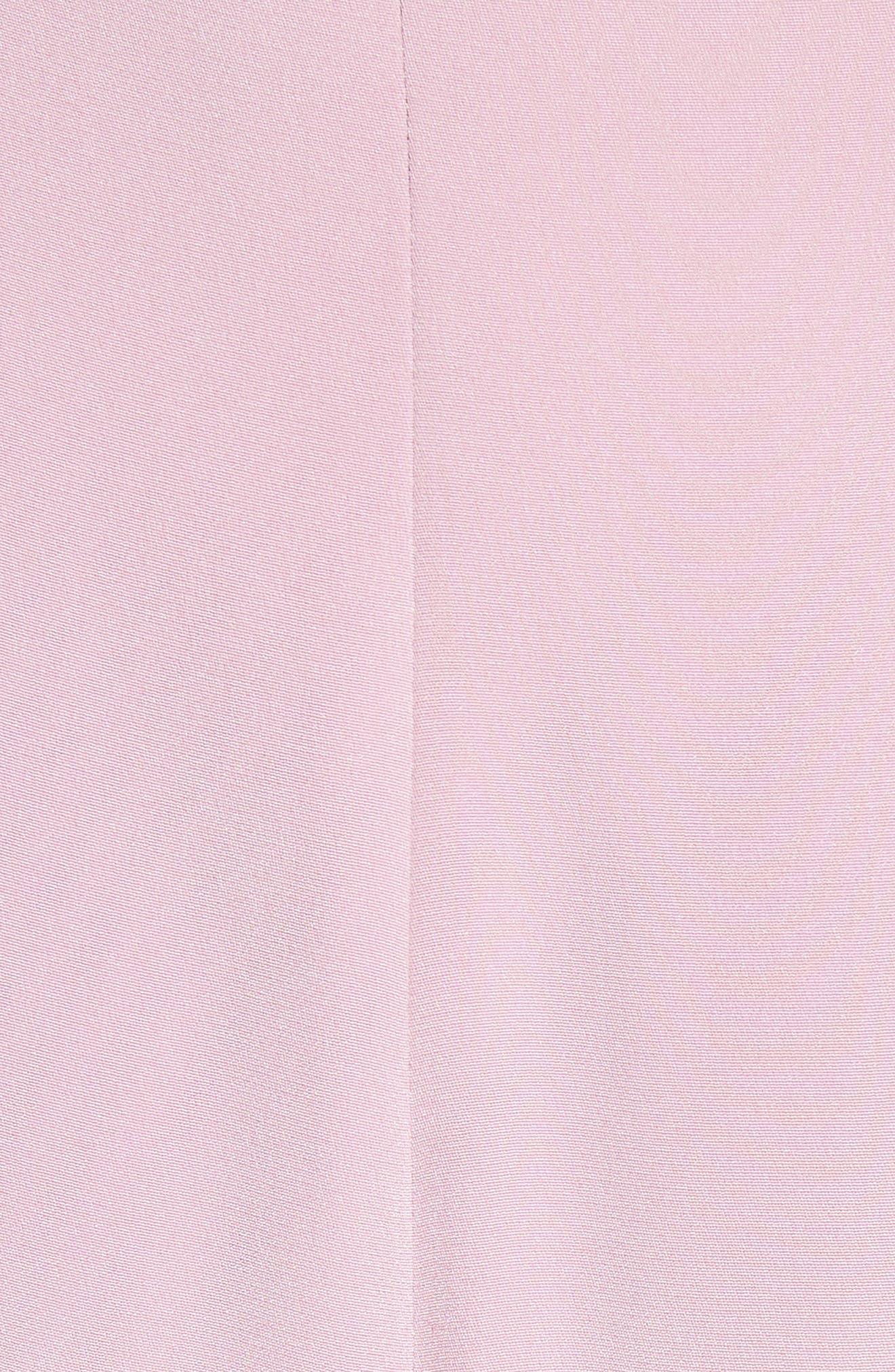 Asymmetrical Ruffle Silk Dress,                             Alternate thumbnail 7, color,                             Quartz