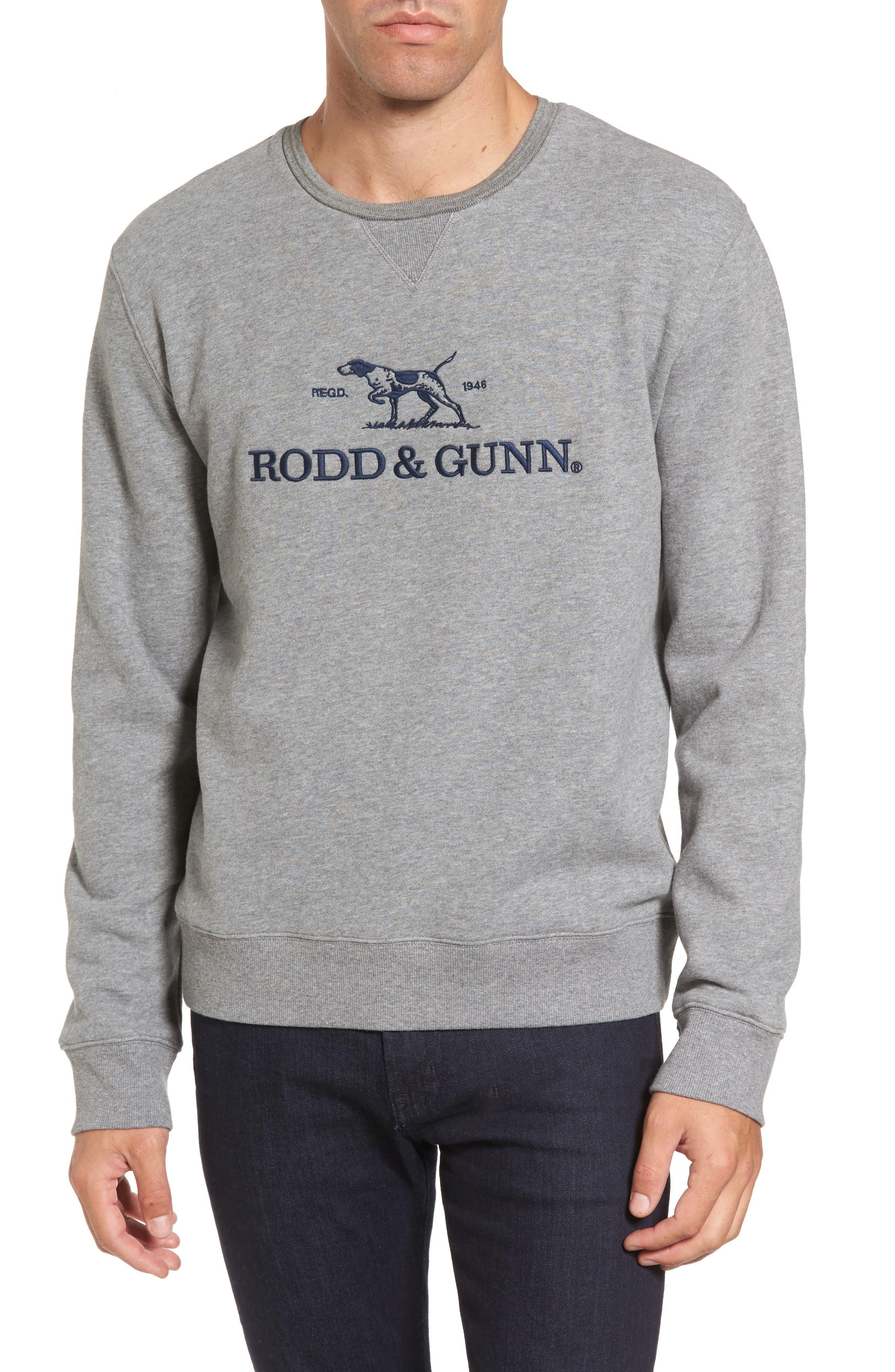 RODD & GUNN Auckland Logo Embroidered Sweatshirt