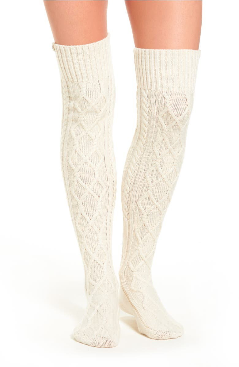 Ugg 174 Cable Knit Over The Knee Socks Nordstrom