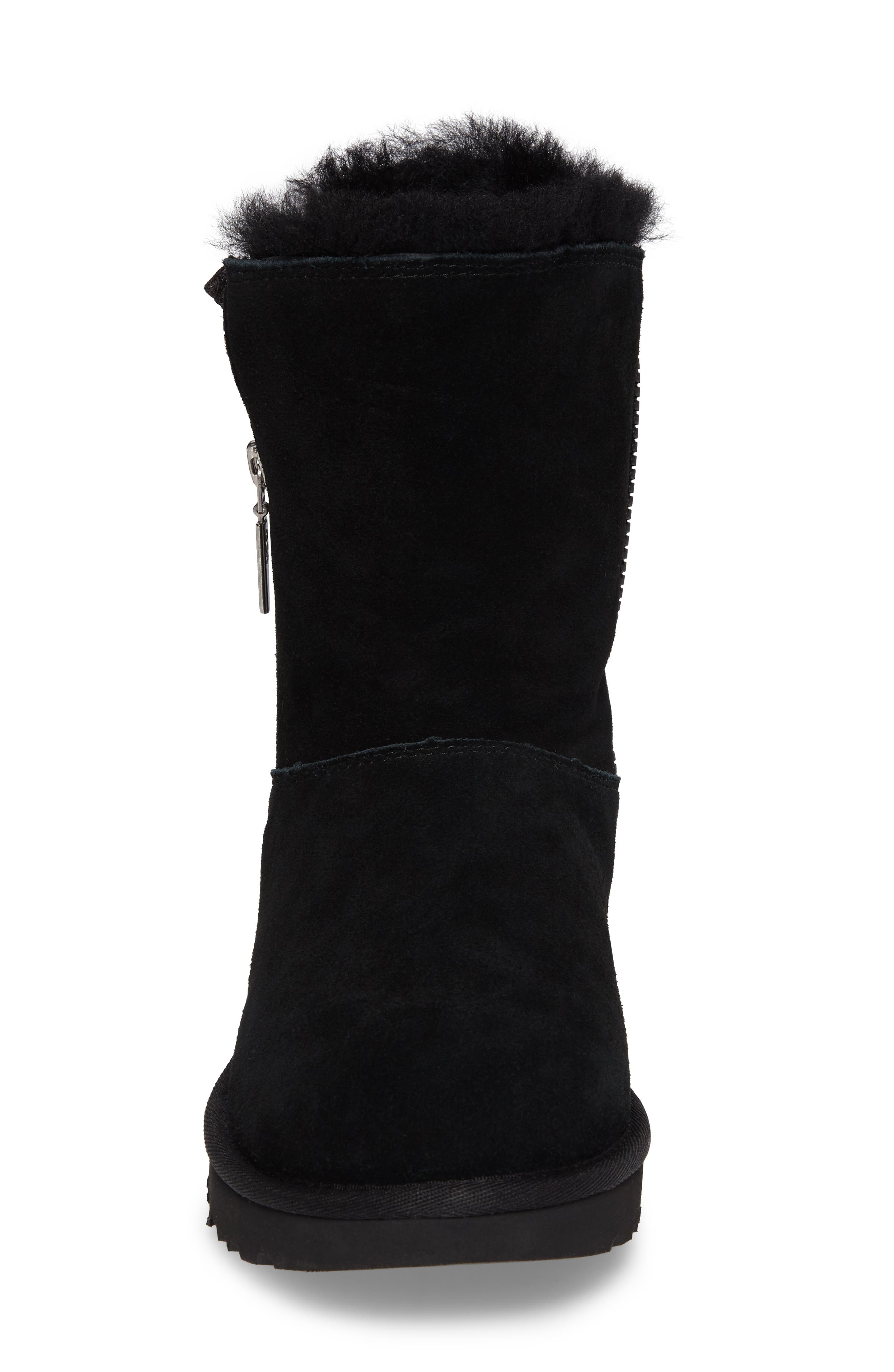 Marice Glitter Inset Boot,                             Alternate thumbnail 4, color,                             Black Suede