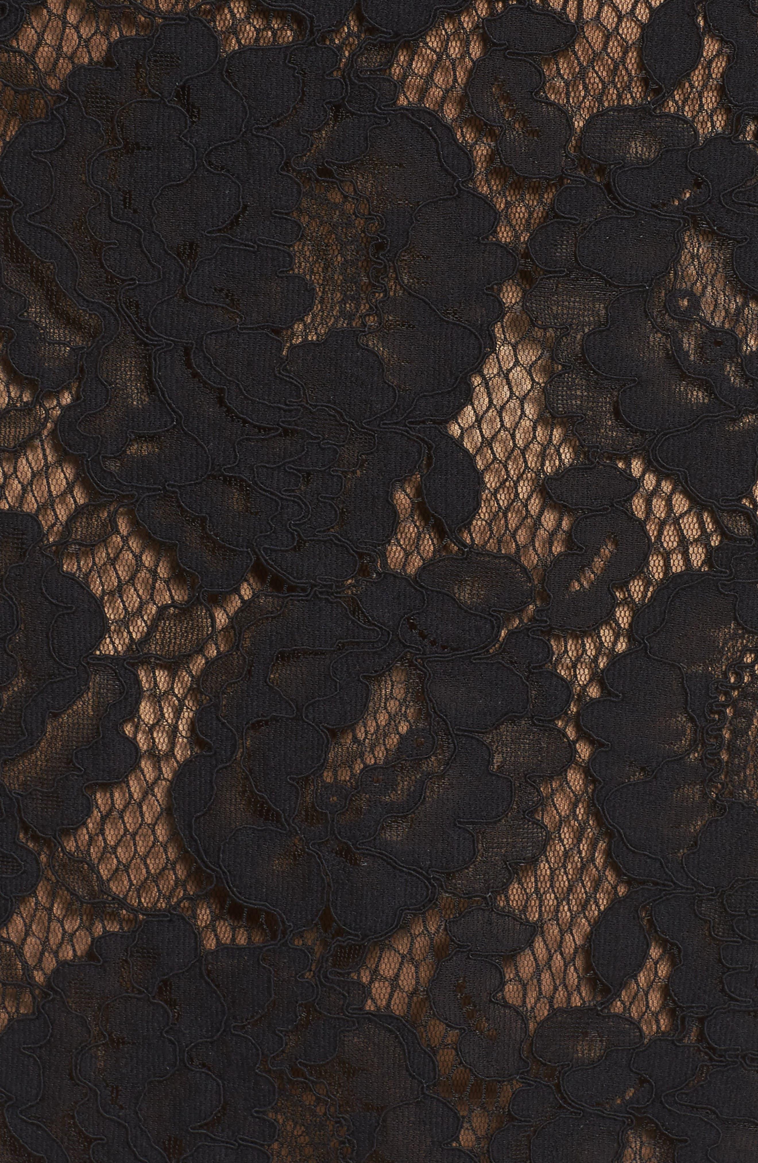 Alternate Image 5  - Tadashi Shoji Lace Bell Sleeve Dress