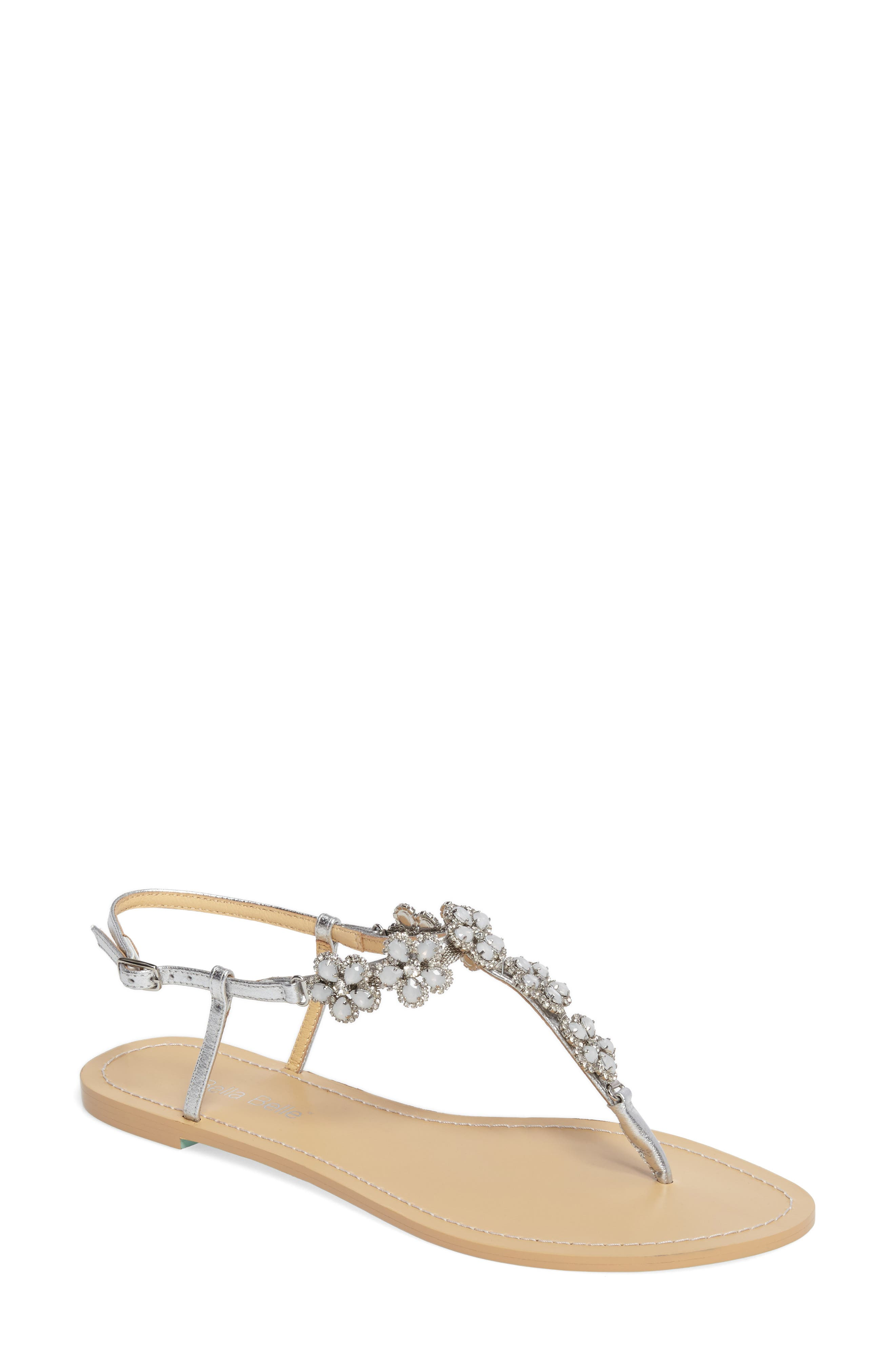 Rhea Sandal,                         Main,                         color, Silver Leather