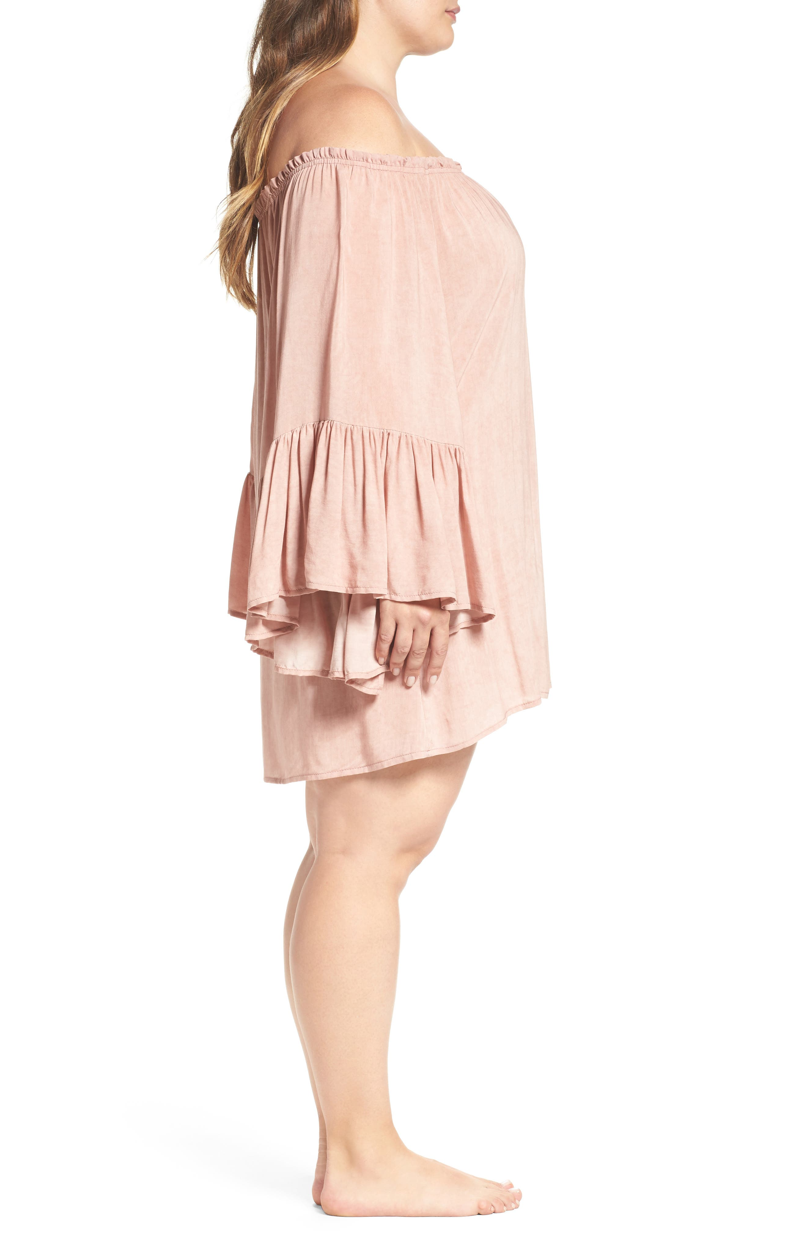 Alternate Image 3  - Elan Cover-Up Dress (Plus Size)