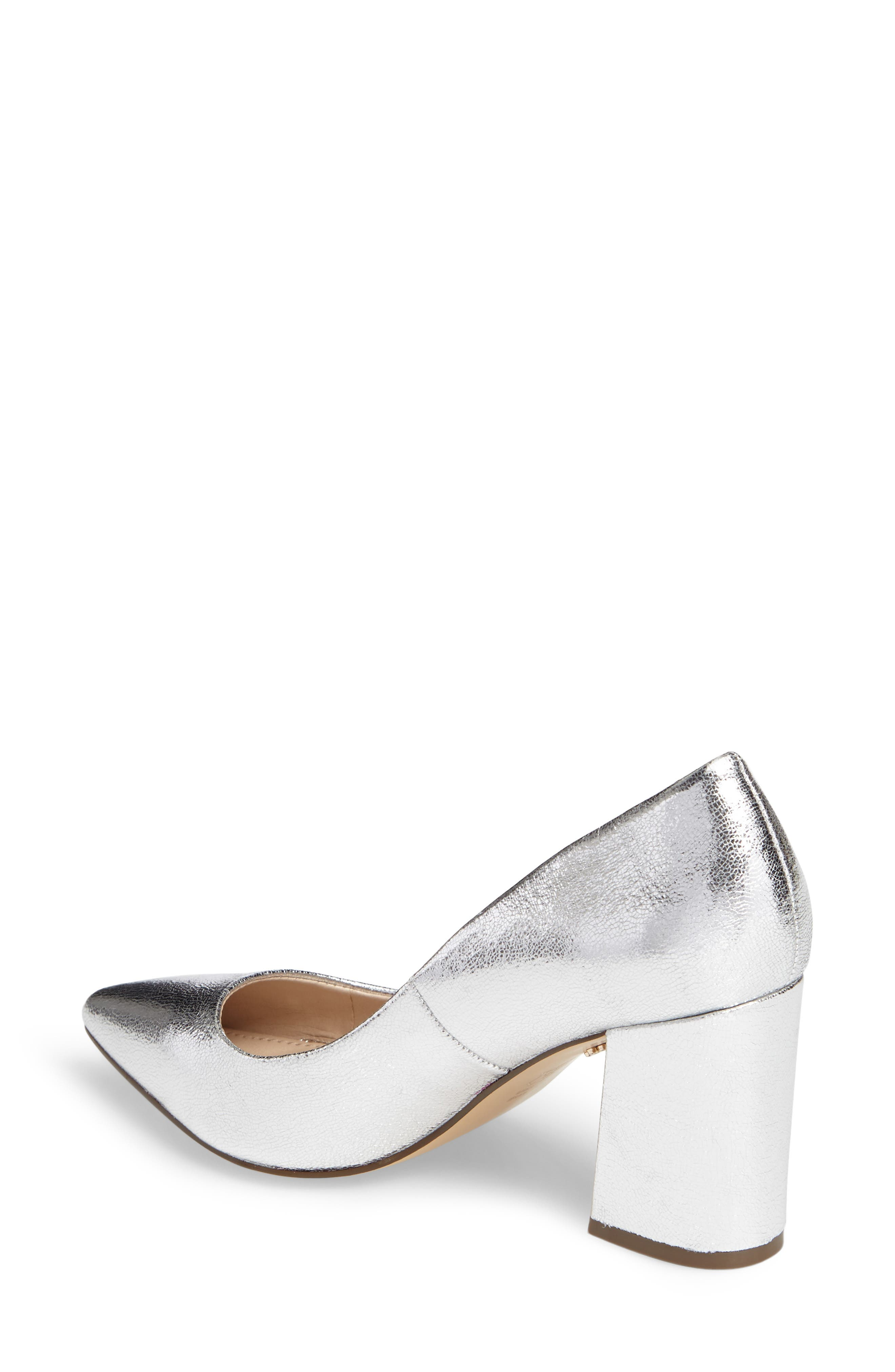 Tinsley Pointy Toe Pump,                             Alternate thumbnail 2, color,                             Silver Fabric