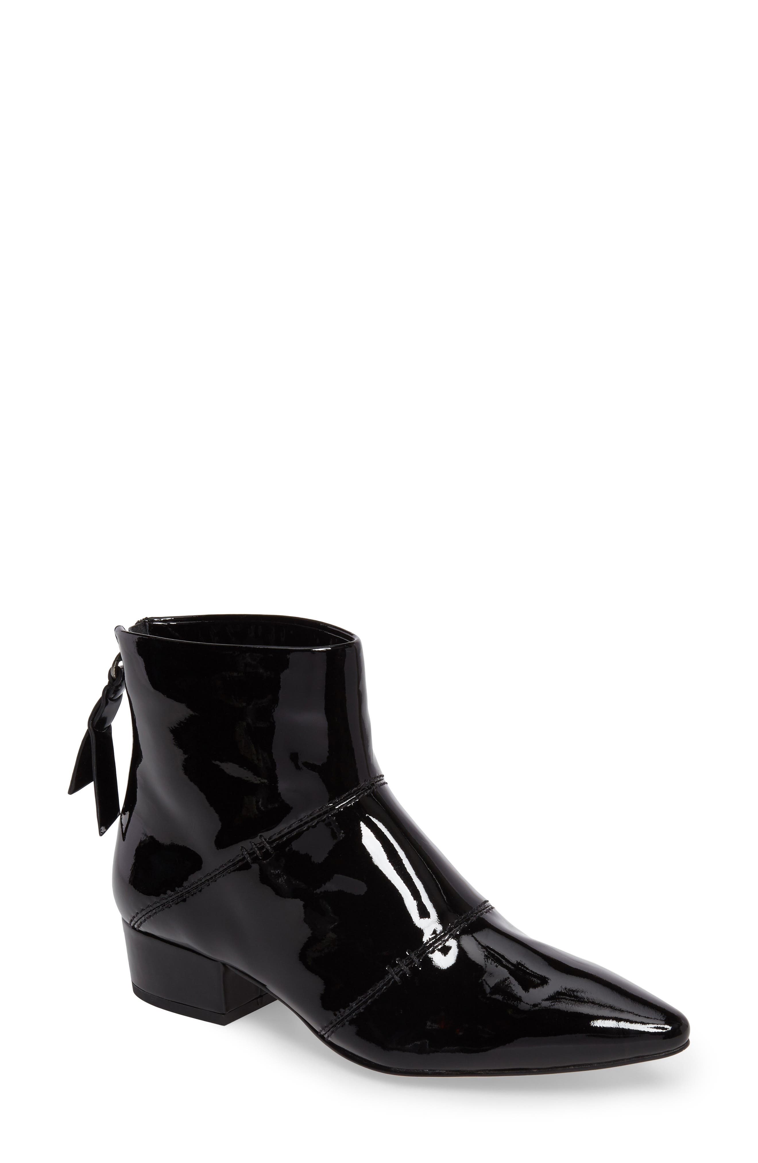 Rina Bootie,                             Main thumbnail 1, color,                             Black Patent