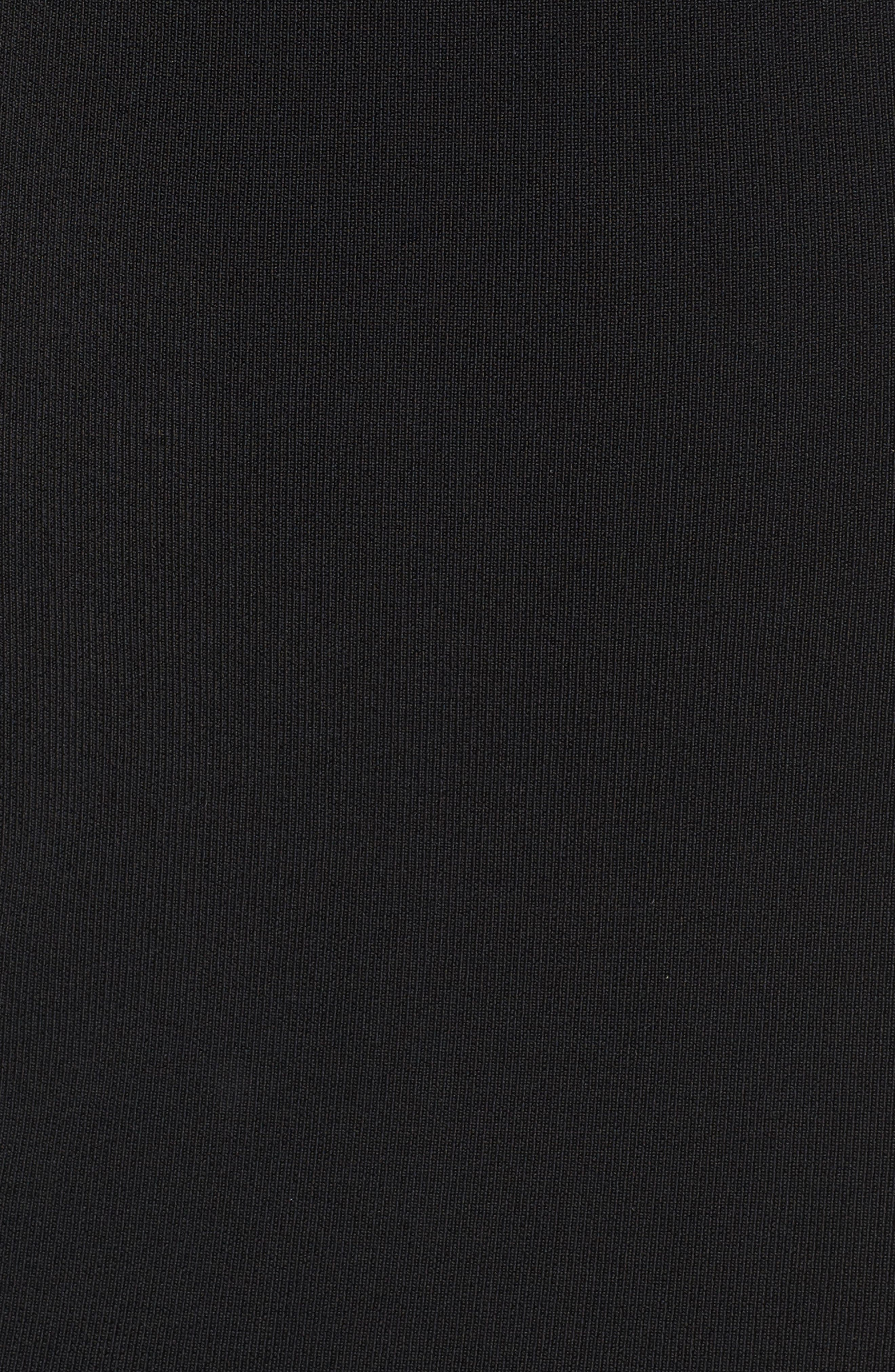Halter Keyhole Sweater Dress,                             Alternate thumbnail 6, color,                             Black