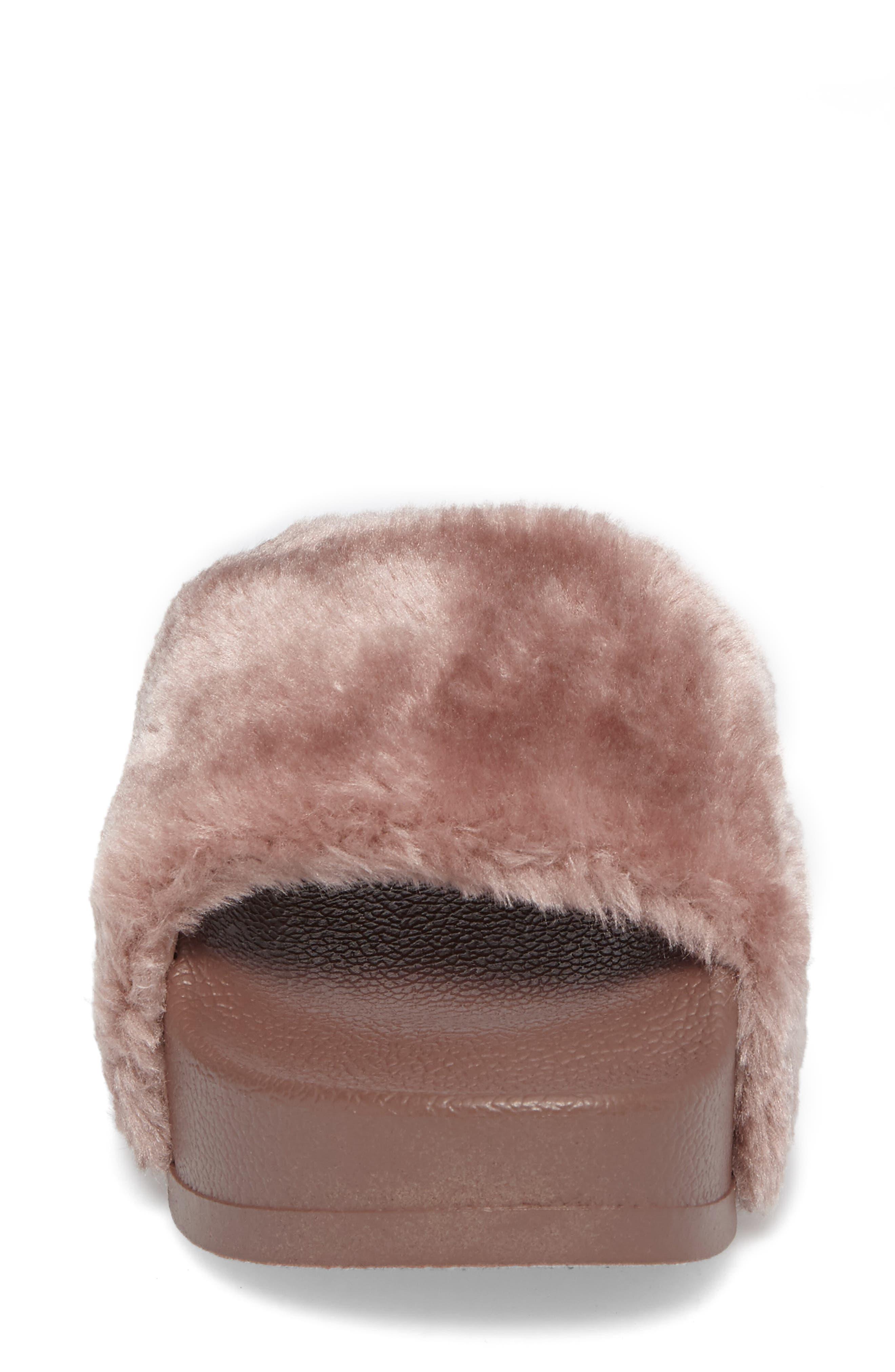 Alternate Image 4  - Steve Madden Softey Faux Fur Platform Slide (Women)