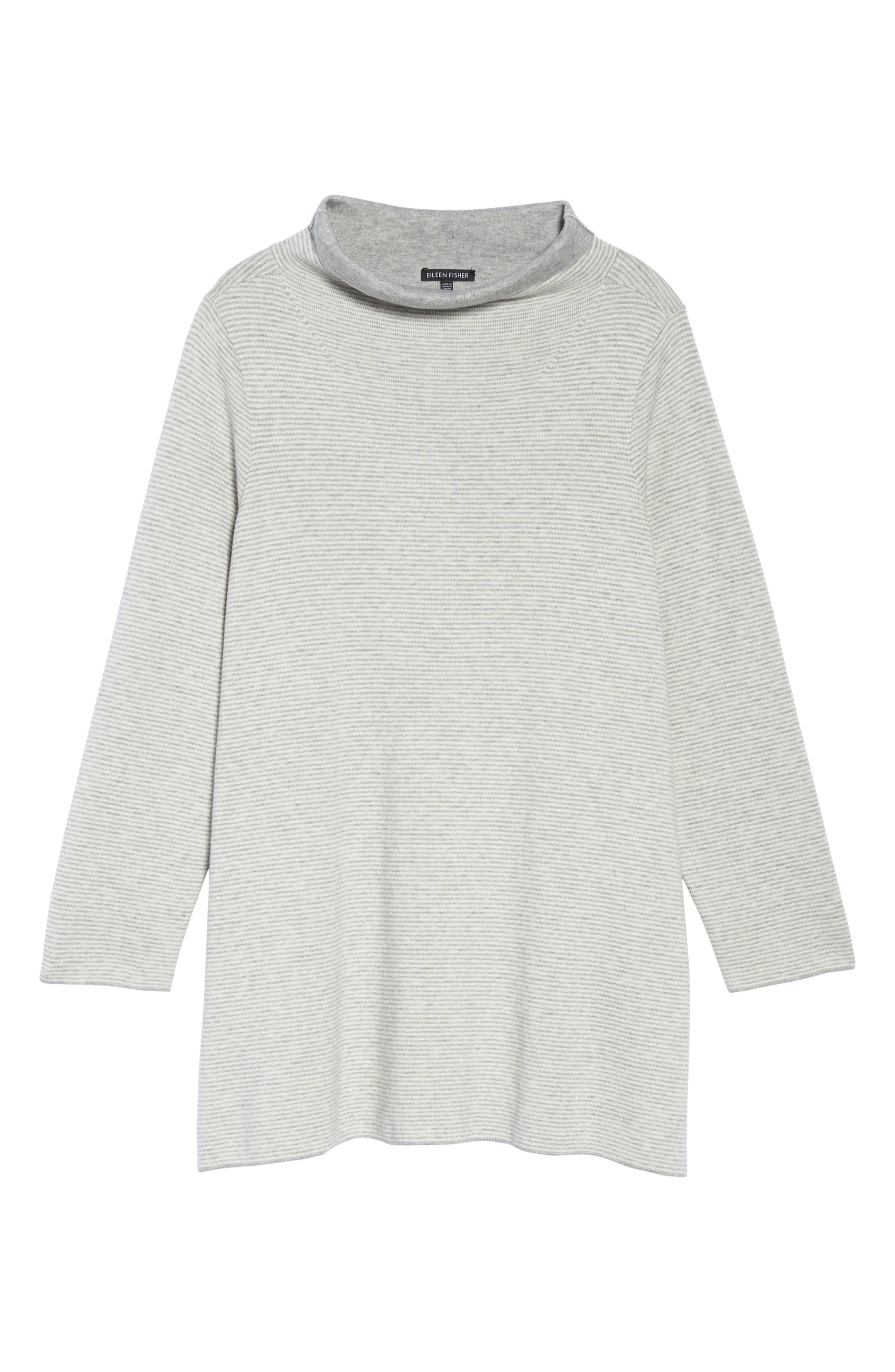 Alternate Image 6  - Eileen Fisher Reversible Funnel Neck Tunic Sweater (Plus Size)