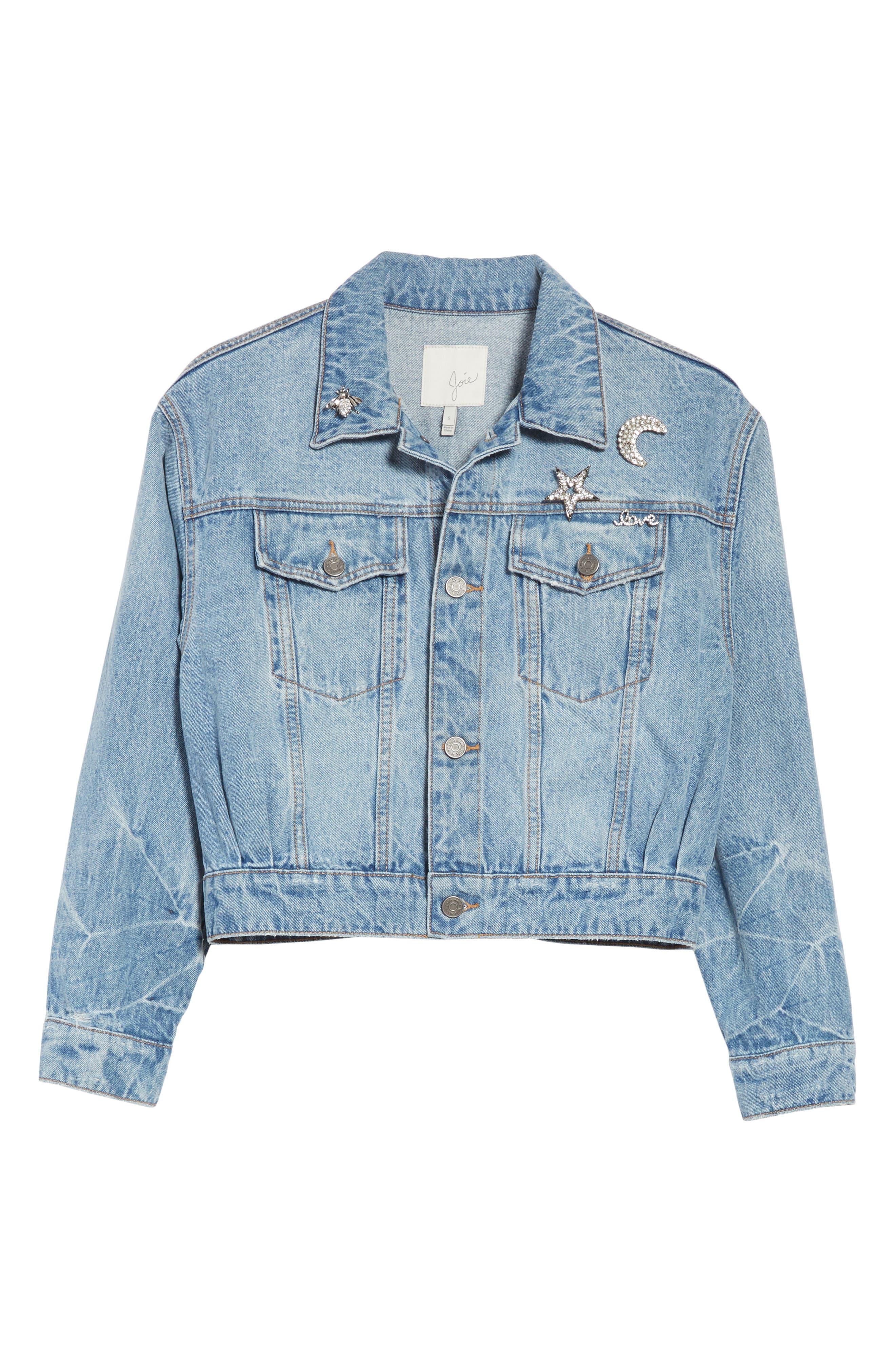 Alternate Image 6  - Joie Redmondia Denim Jacket (Azzurro)