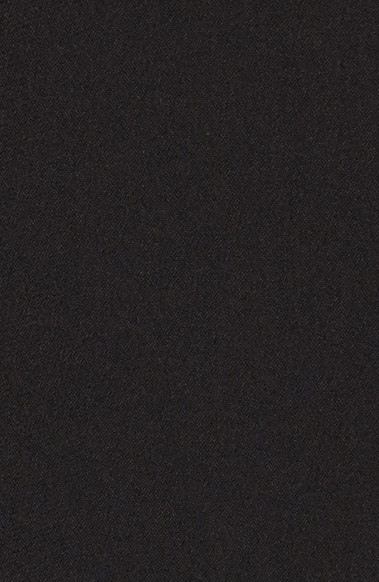 Orlando Ruffle Sleeve Dress,                             Alternate thumbnail 5, color,                             Black