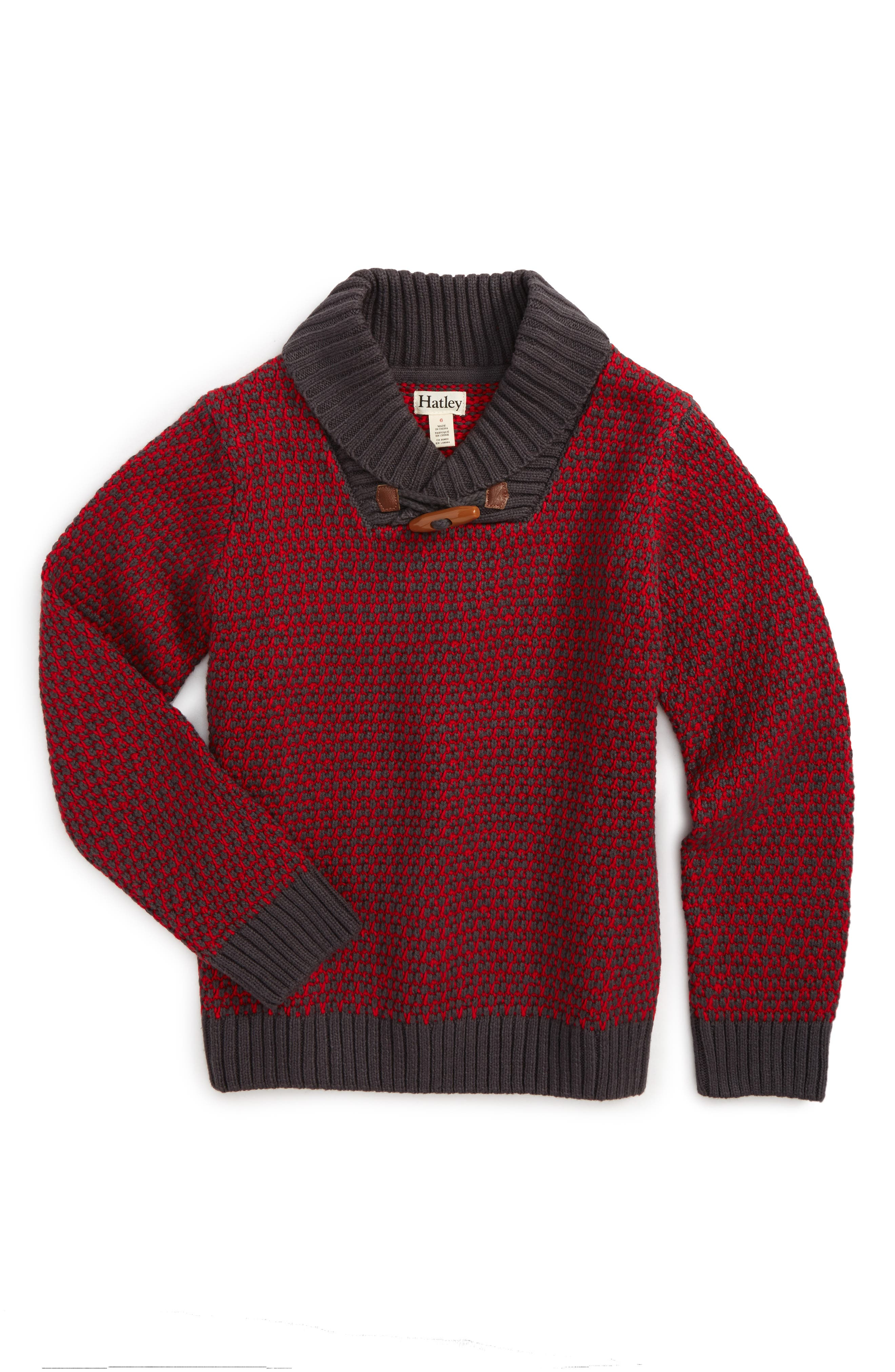 Hatley Toggle Knit Sweater (Toddler Boys, Little Boys & Big Boys)