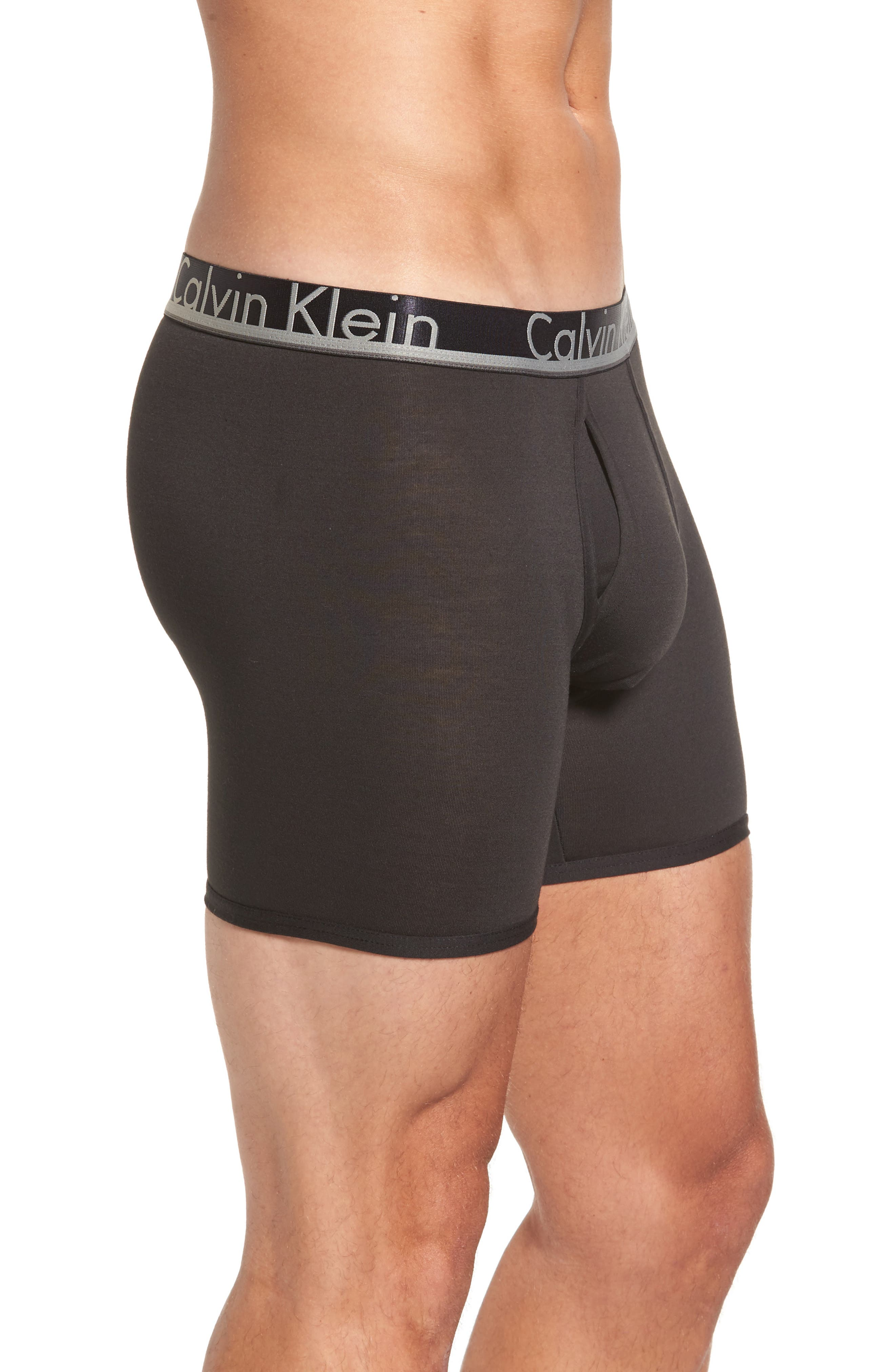 Alternate Image 4  - Calvin Klein 3-Pack Comfort Microfiber Boxer Briefs