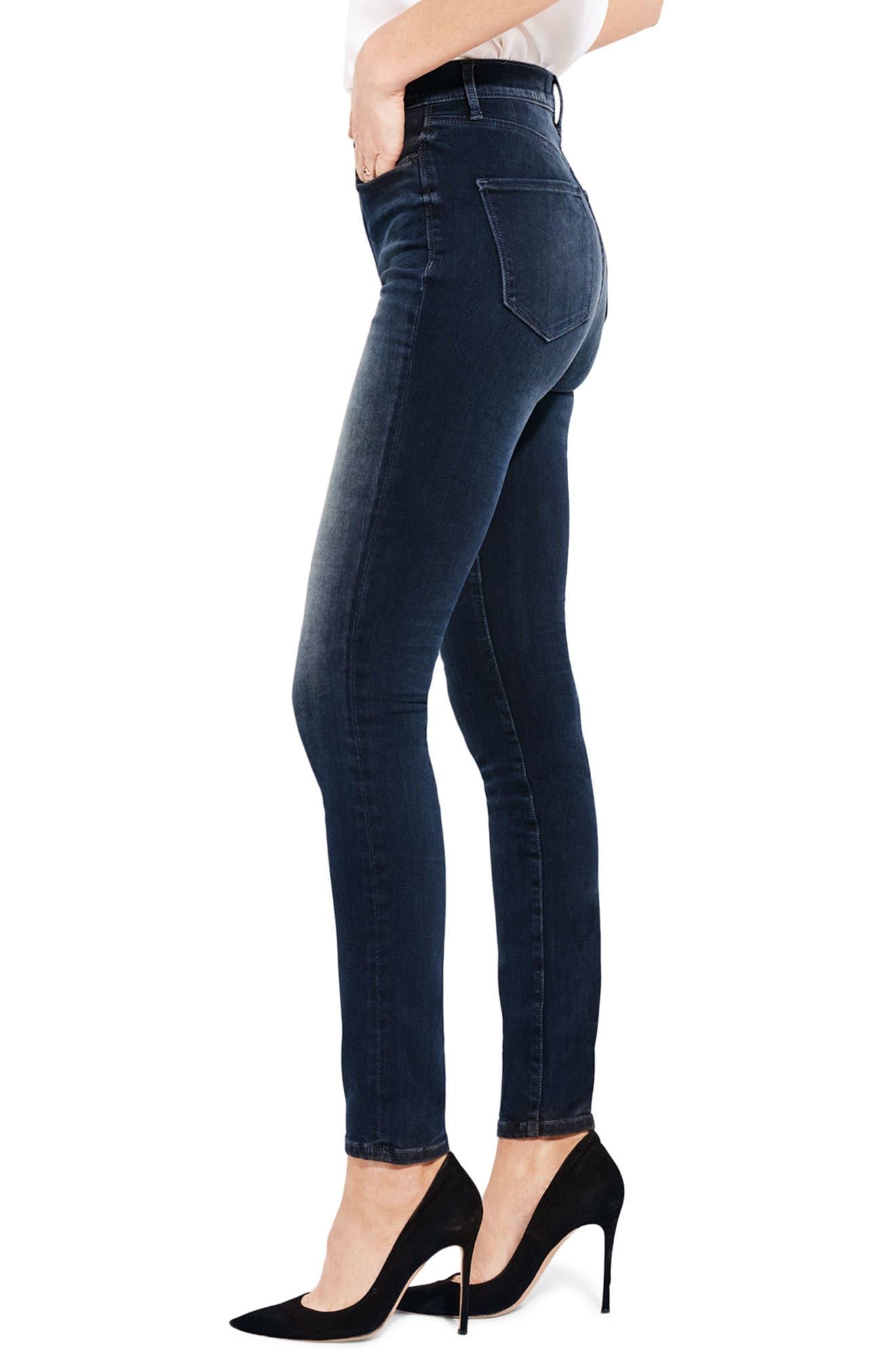 The Hi Rise High Waist Skinny Jeans,                             Alternate thumbnail 3, color,                             Night Of Joy