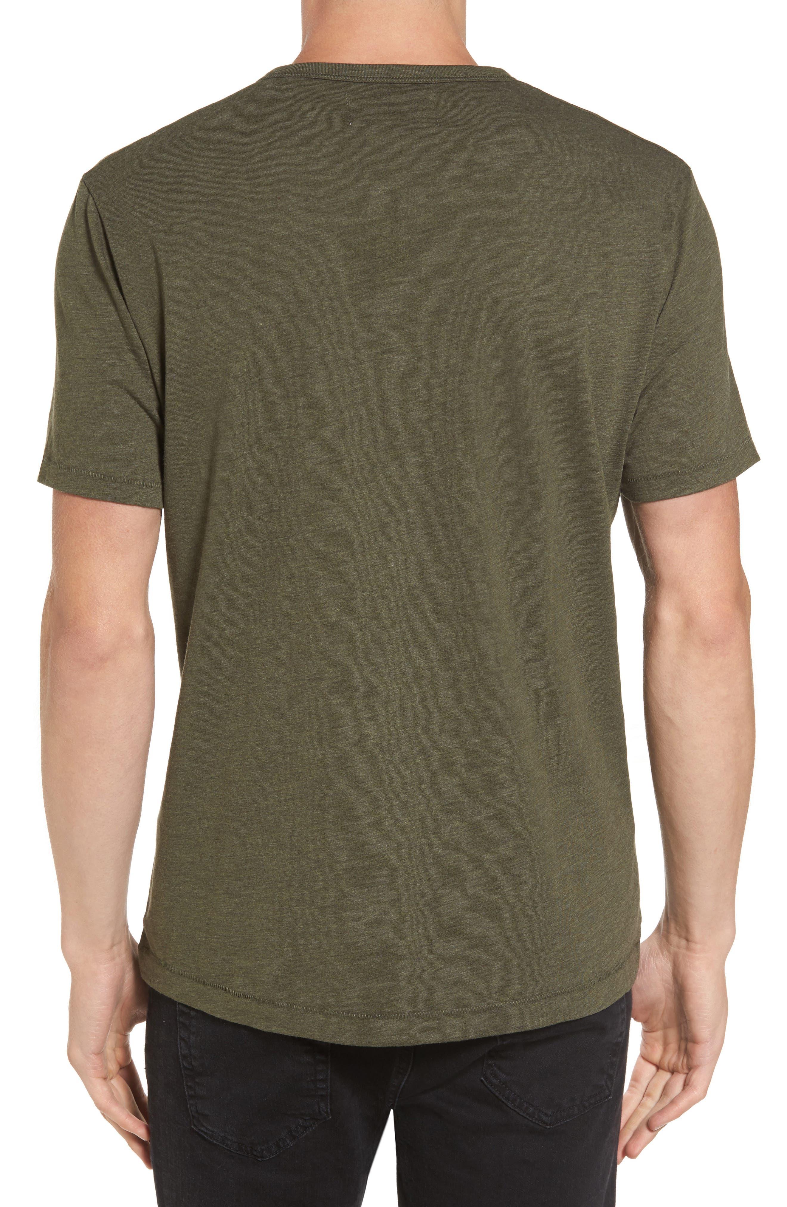 Bing Short Sleeve Henley Shirt,                             Alternate thumbnail 2, color,                             Forest Night