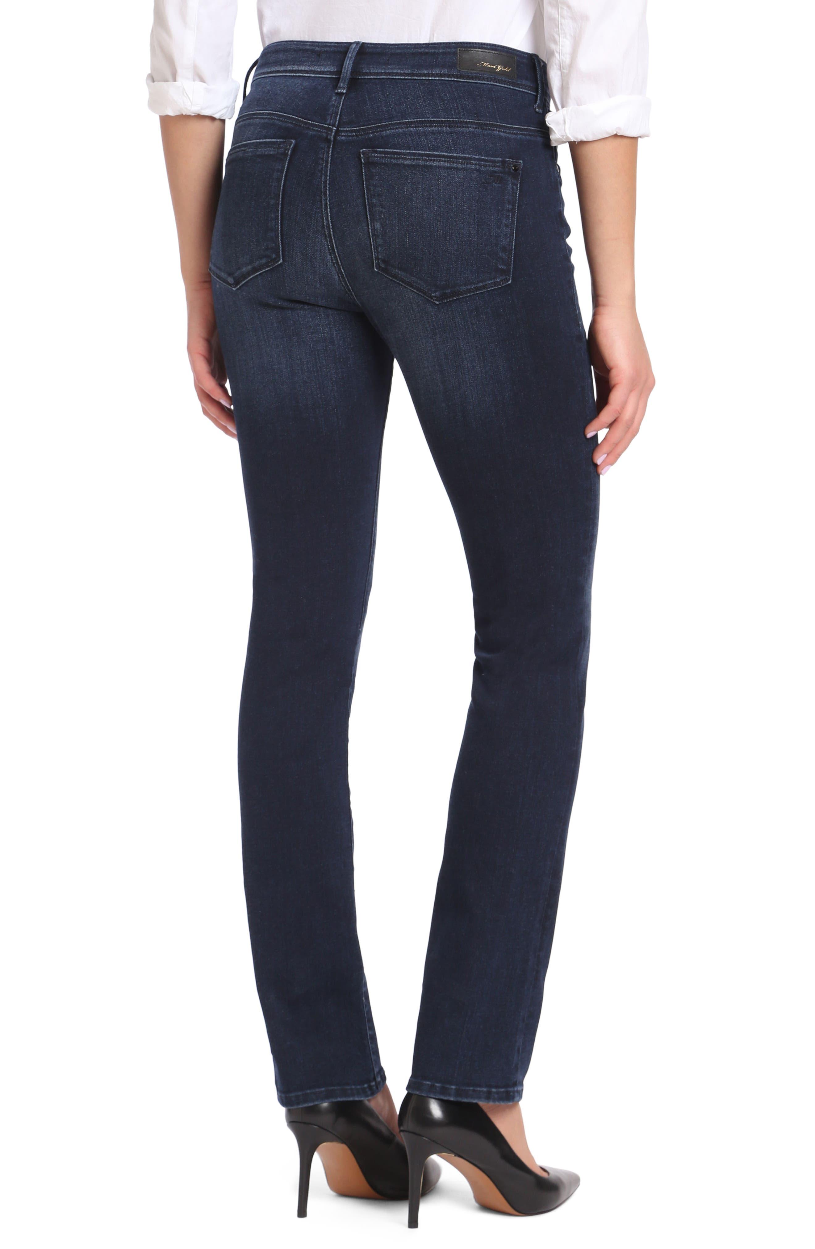 Alternate Image 2  - Mavi Jeans Kendra High Waist Straight Jeans (Deep Ink Gold)