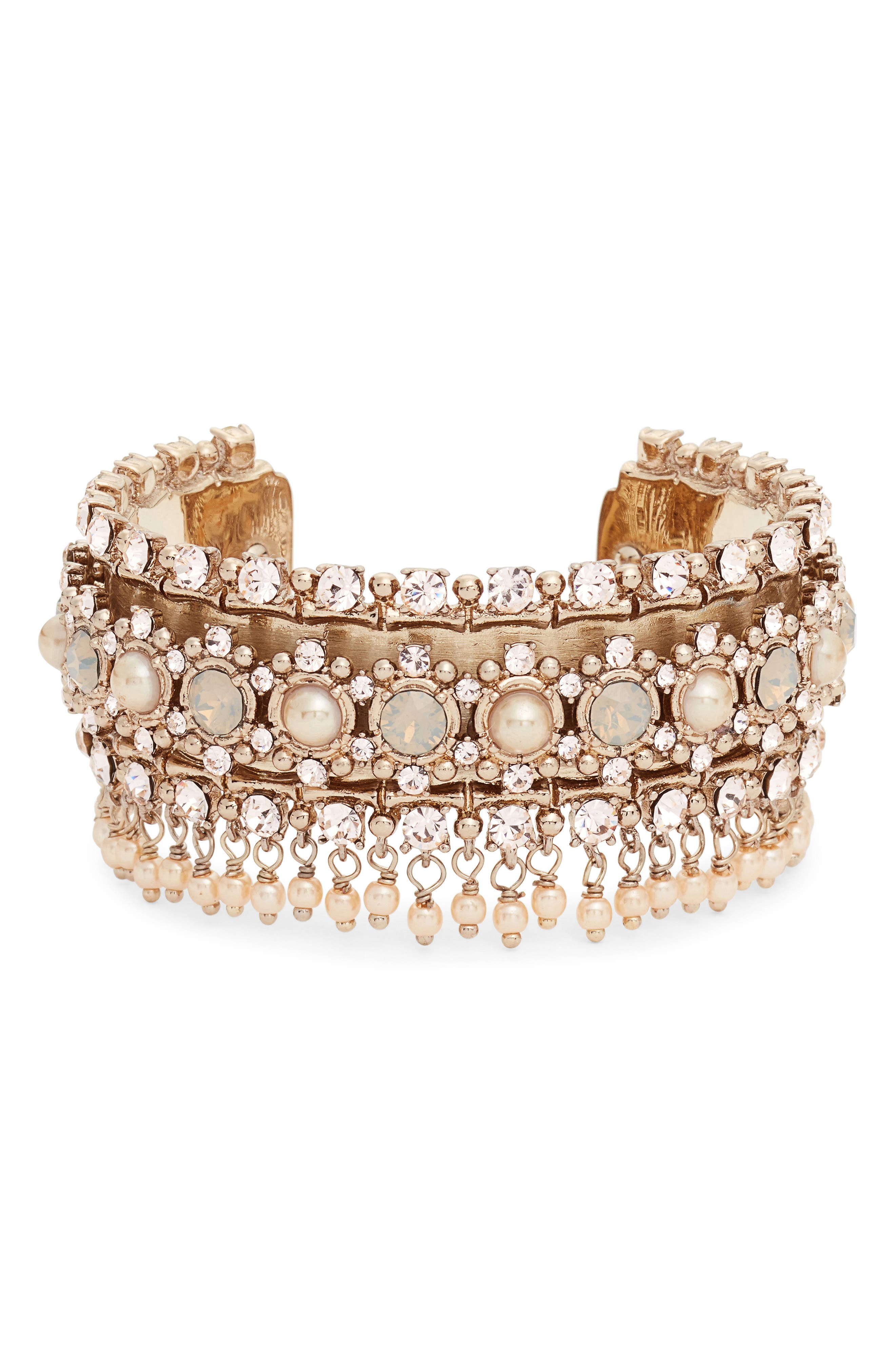 Alternate Image 1 Selected - Marchesa Crystal & Imitation Pearl Cuff