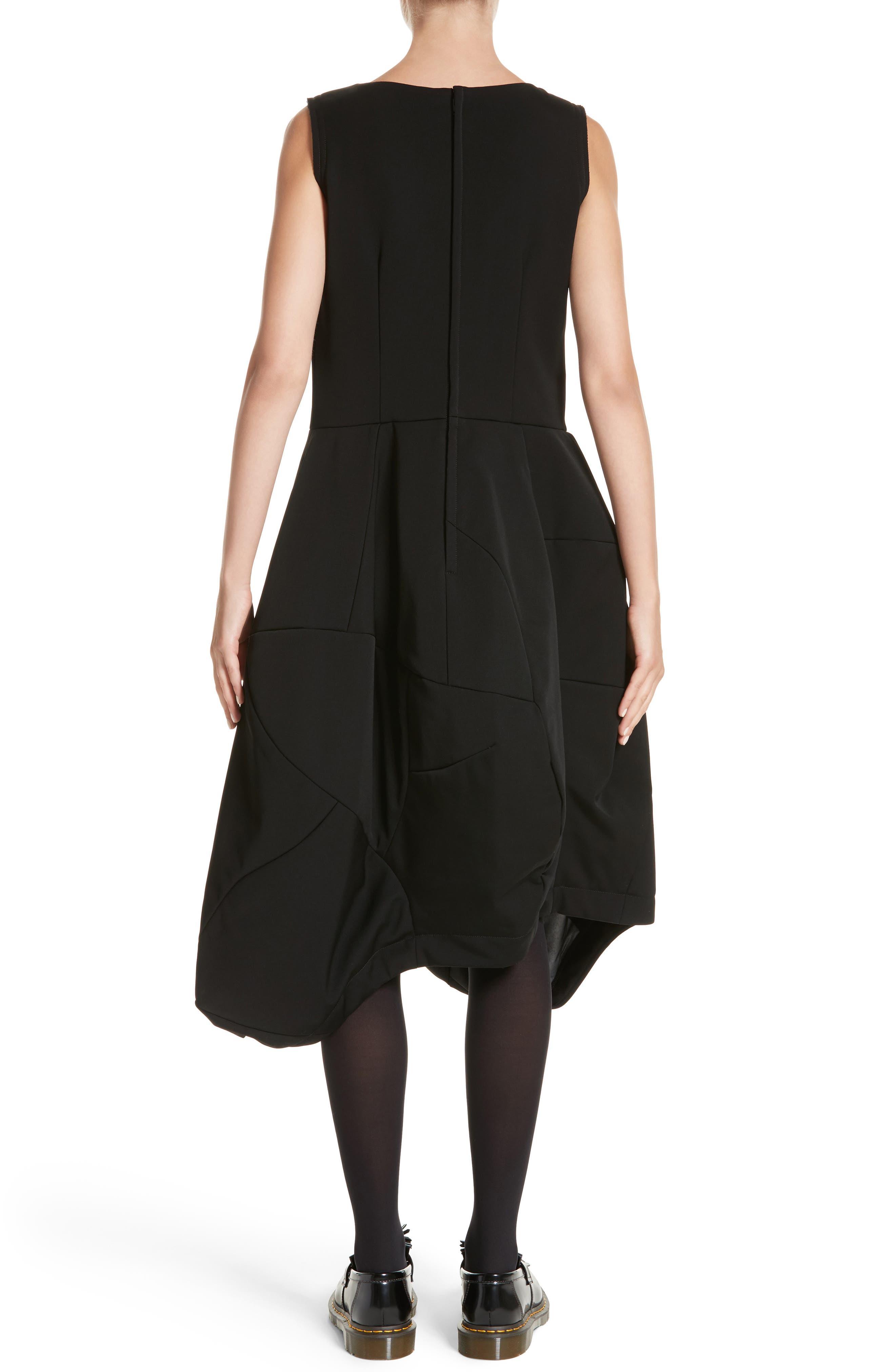 Bending Skirt Wool Dress,                             Alternate thumbnail 2, color,                             Black
