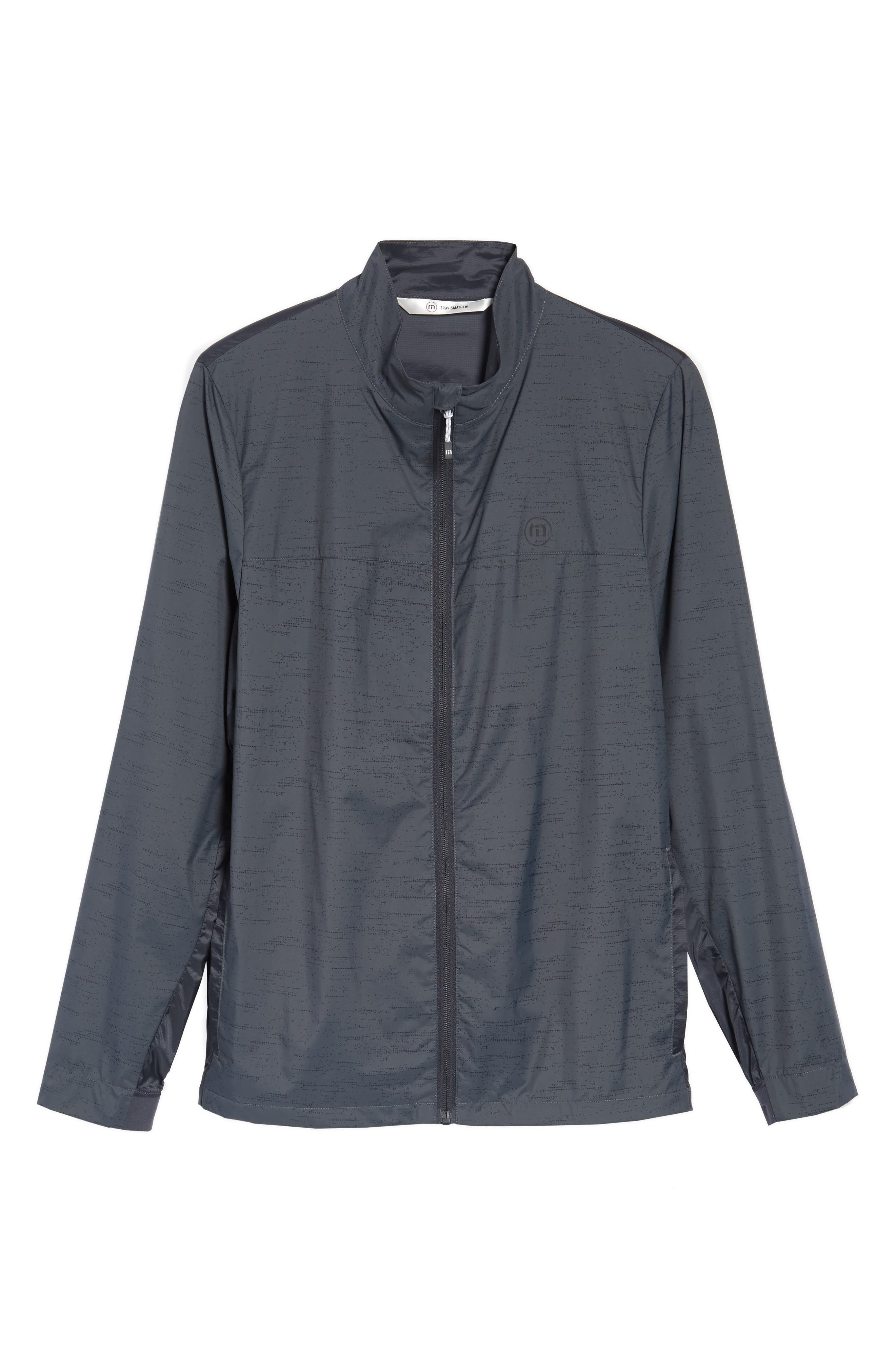The Voyager Jacket,                             Alternate thumbnail 6, color,                             Grey Pinstripe
