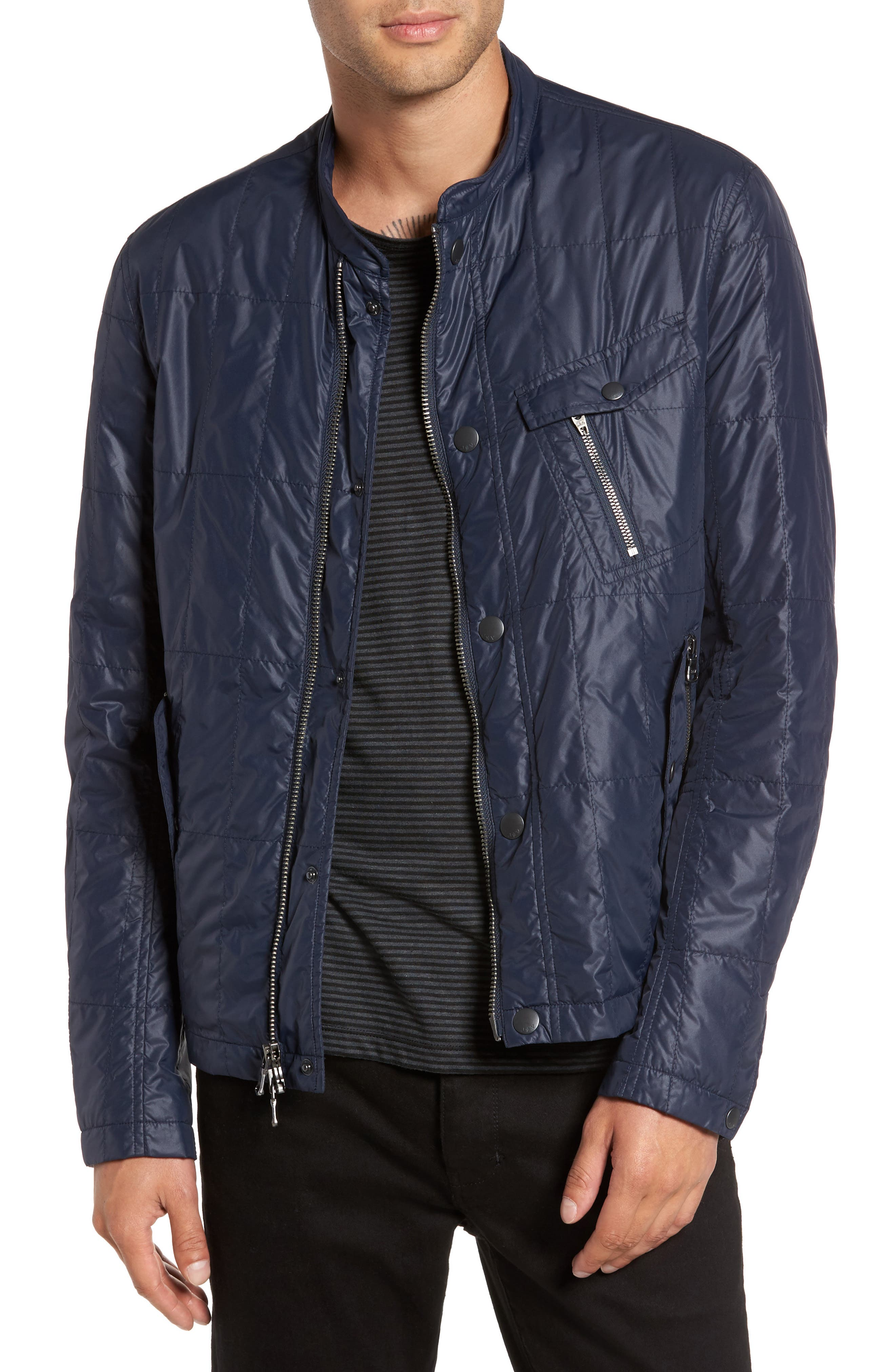 Quilted Jacket,                         Main,                         color, Night Sky