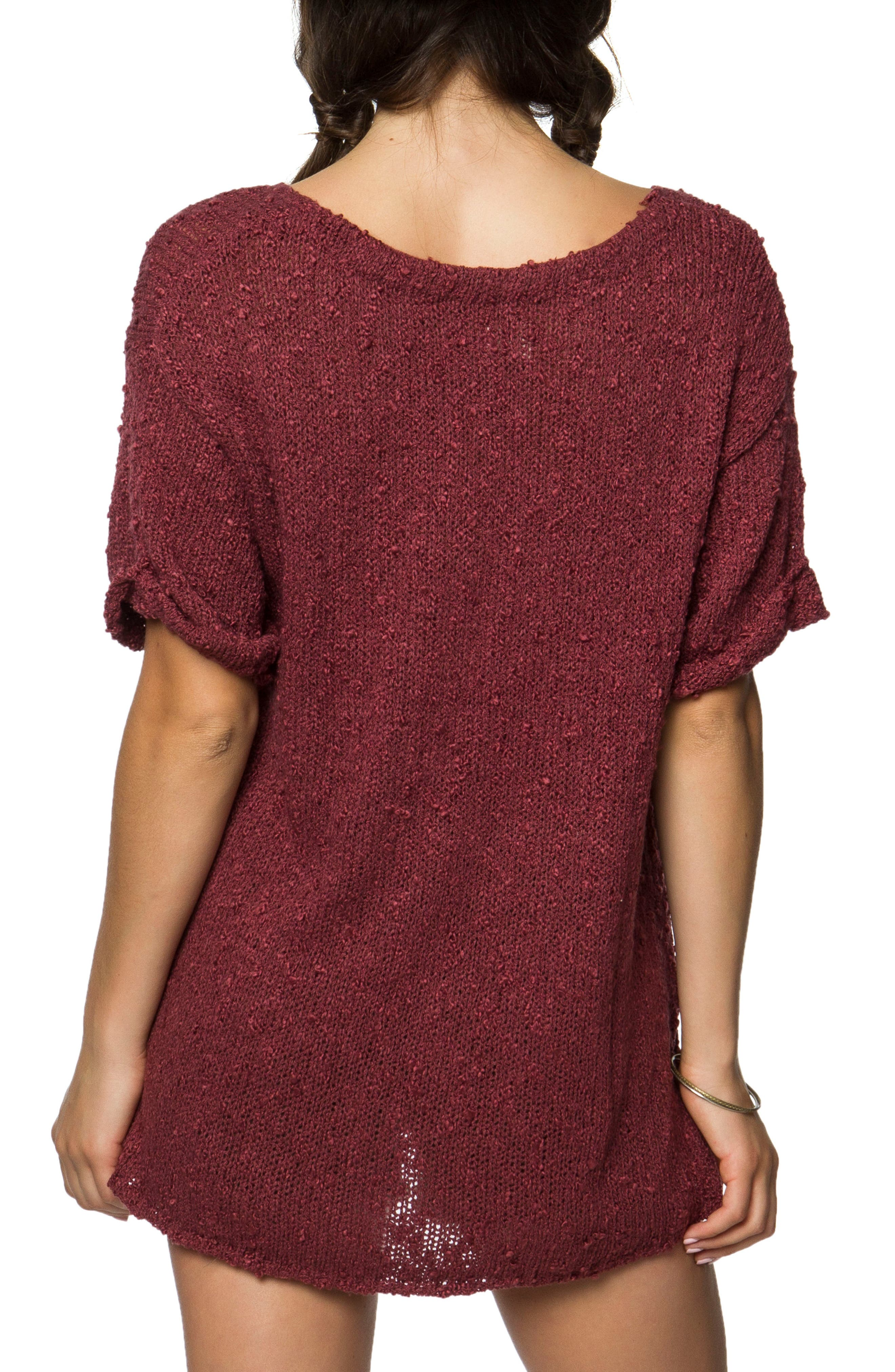 Canyon Sweater,                             Alternate thumbnail 2, color,                             Roan Rouge