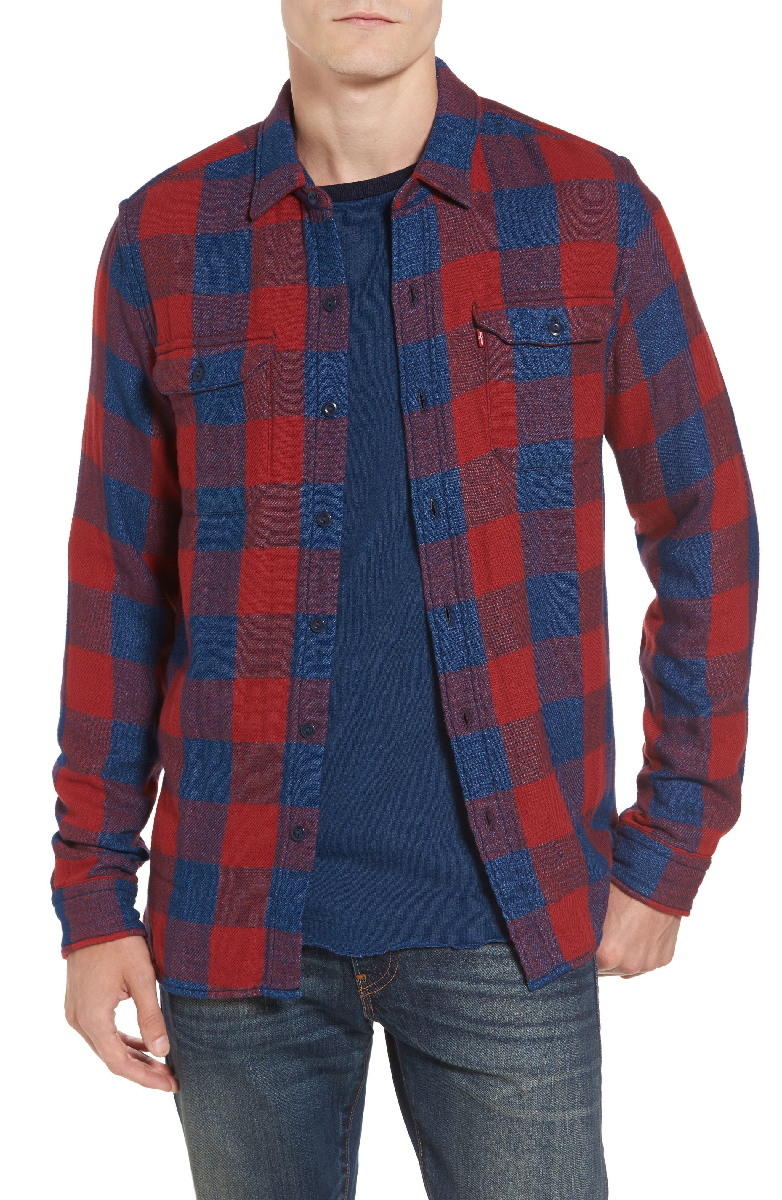 Jackson Worker Shirt,                         Main,                         color, Red Dahlia Plaid