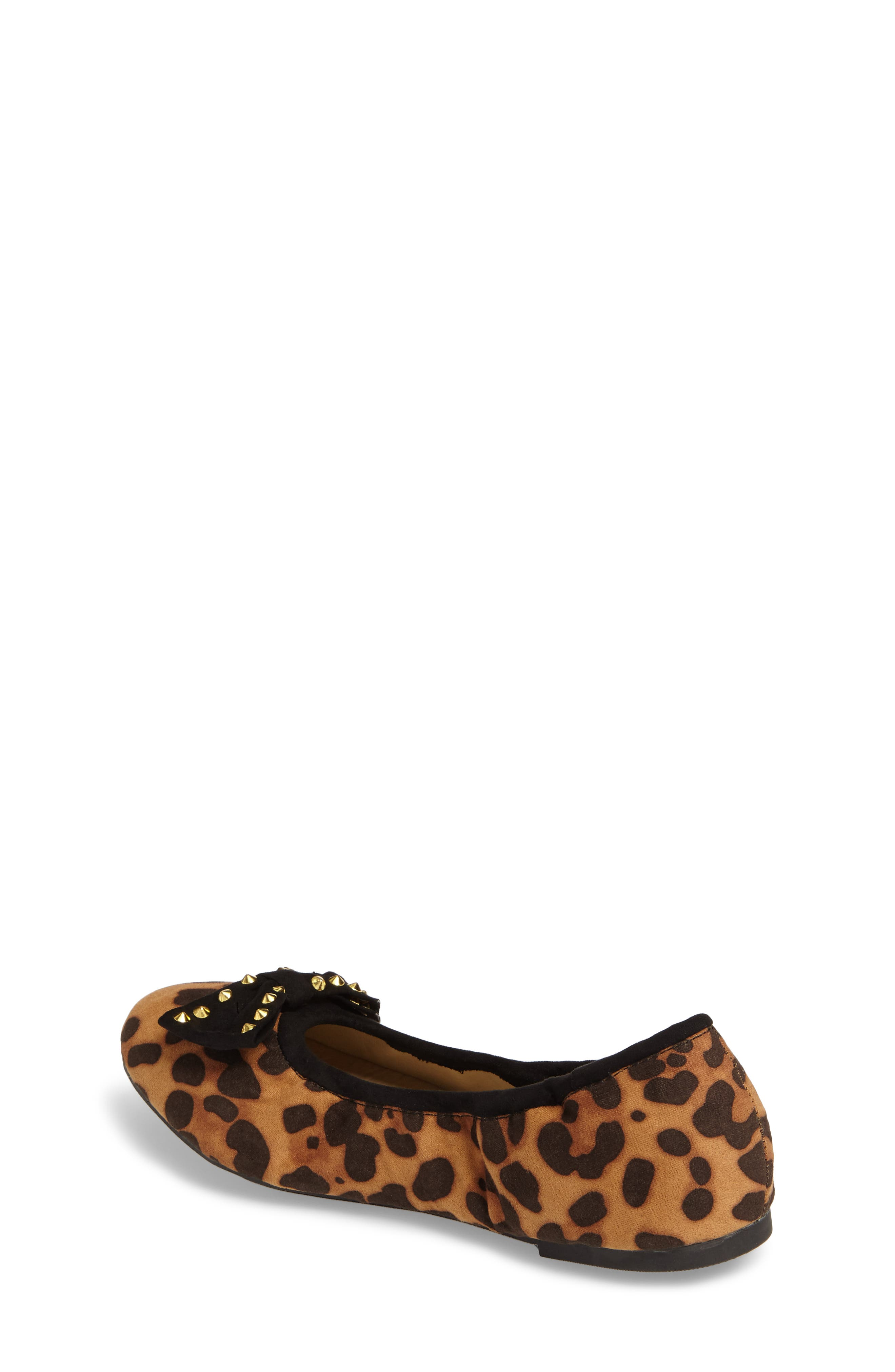 'Felicia' Ballet Flat,                             Alternate thumbnail 2, color,                             Black Cheetah