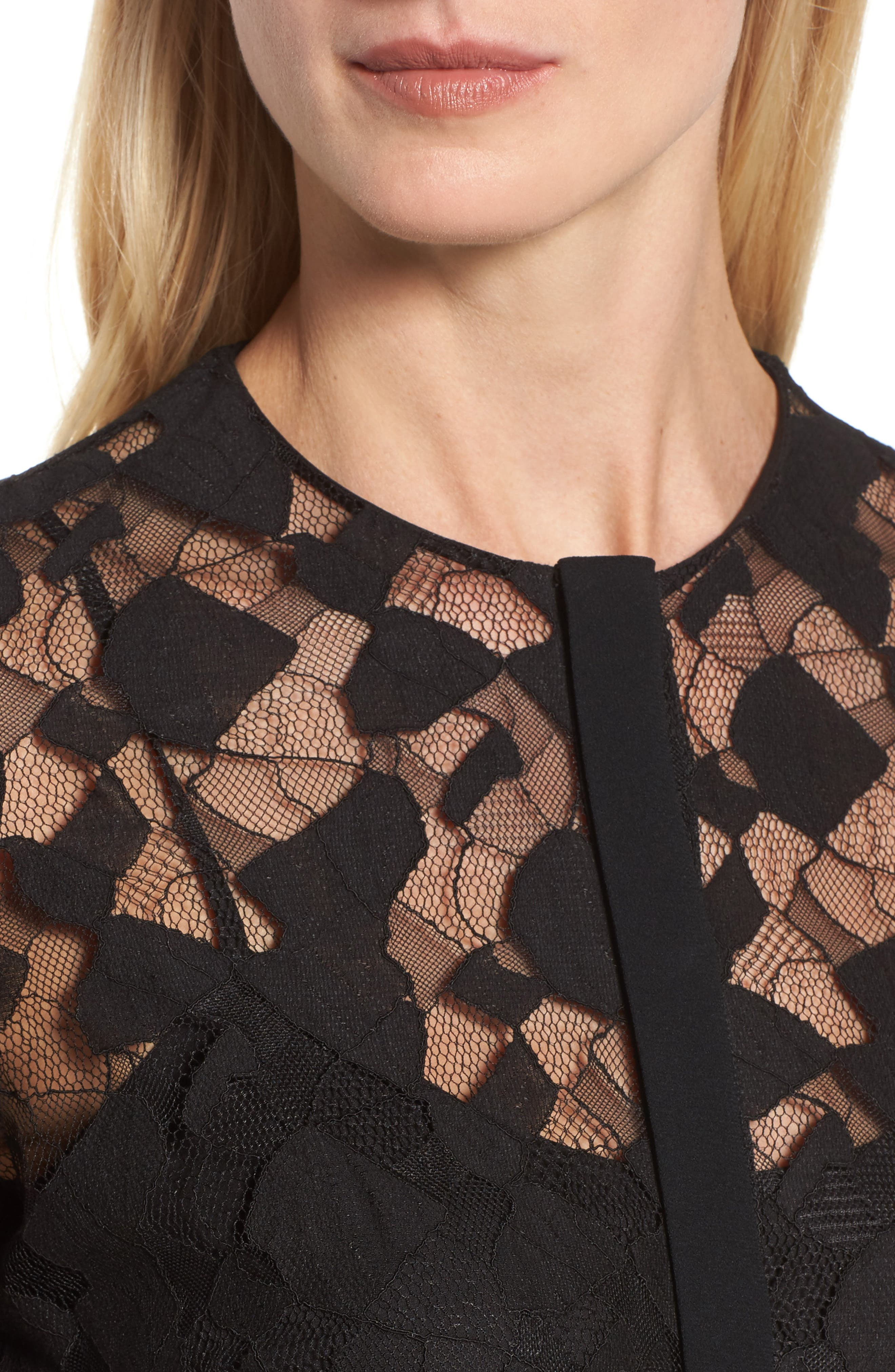 Alternate Image 4  - BOSS Banela Lace Blouse
