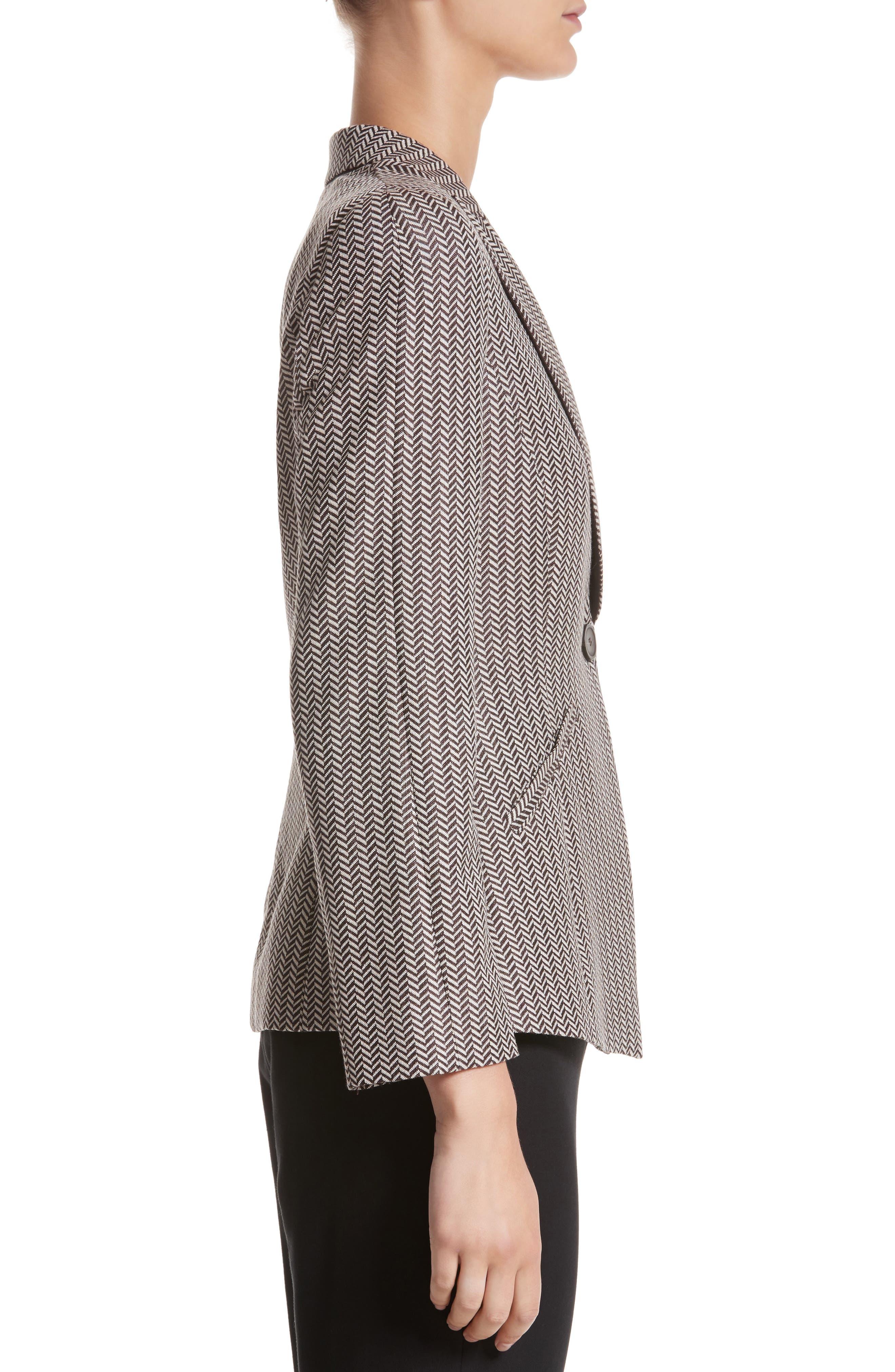Alternate Image 3  - Armani Collezioni Mini Herringbone Jacket