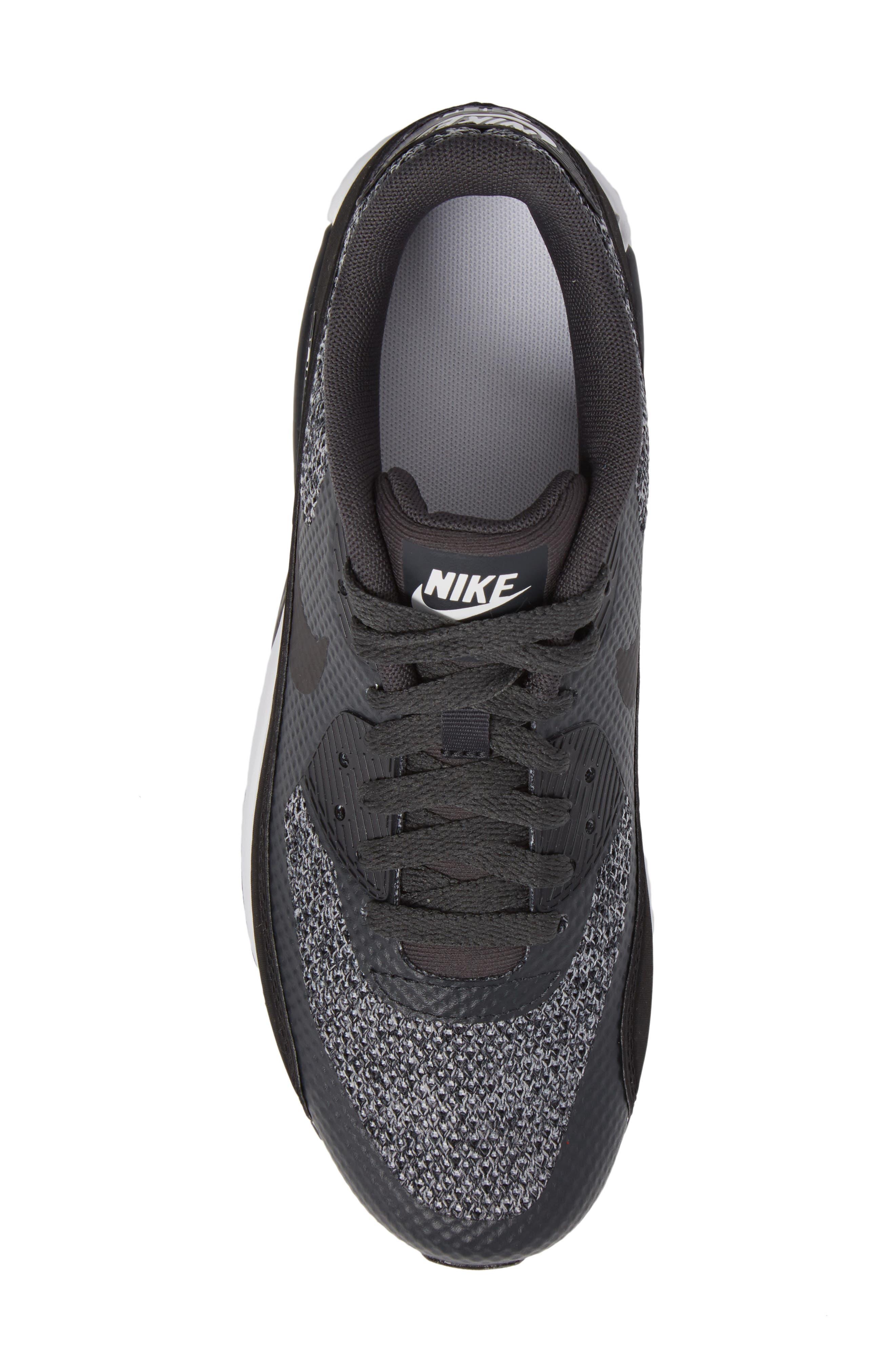Air Max 90 Ultra 2.0 SE Sneaker,                             Alternate thumbnail 5, color,                             Anthracite/ Black