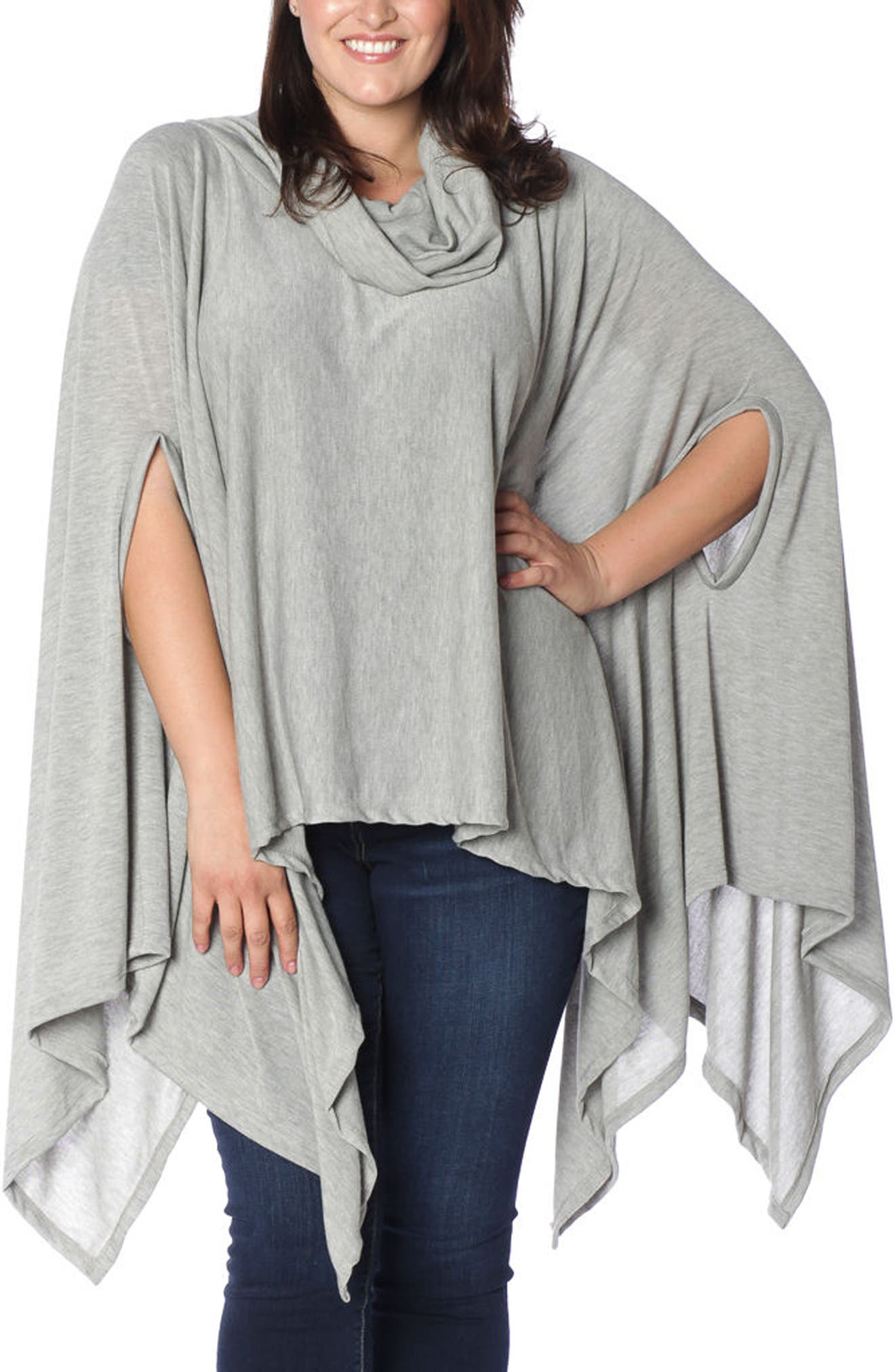 SLINK Jeans Turtleneck Poncho (Plus Size)