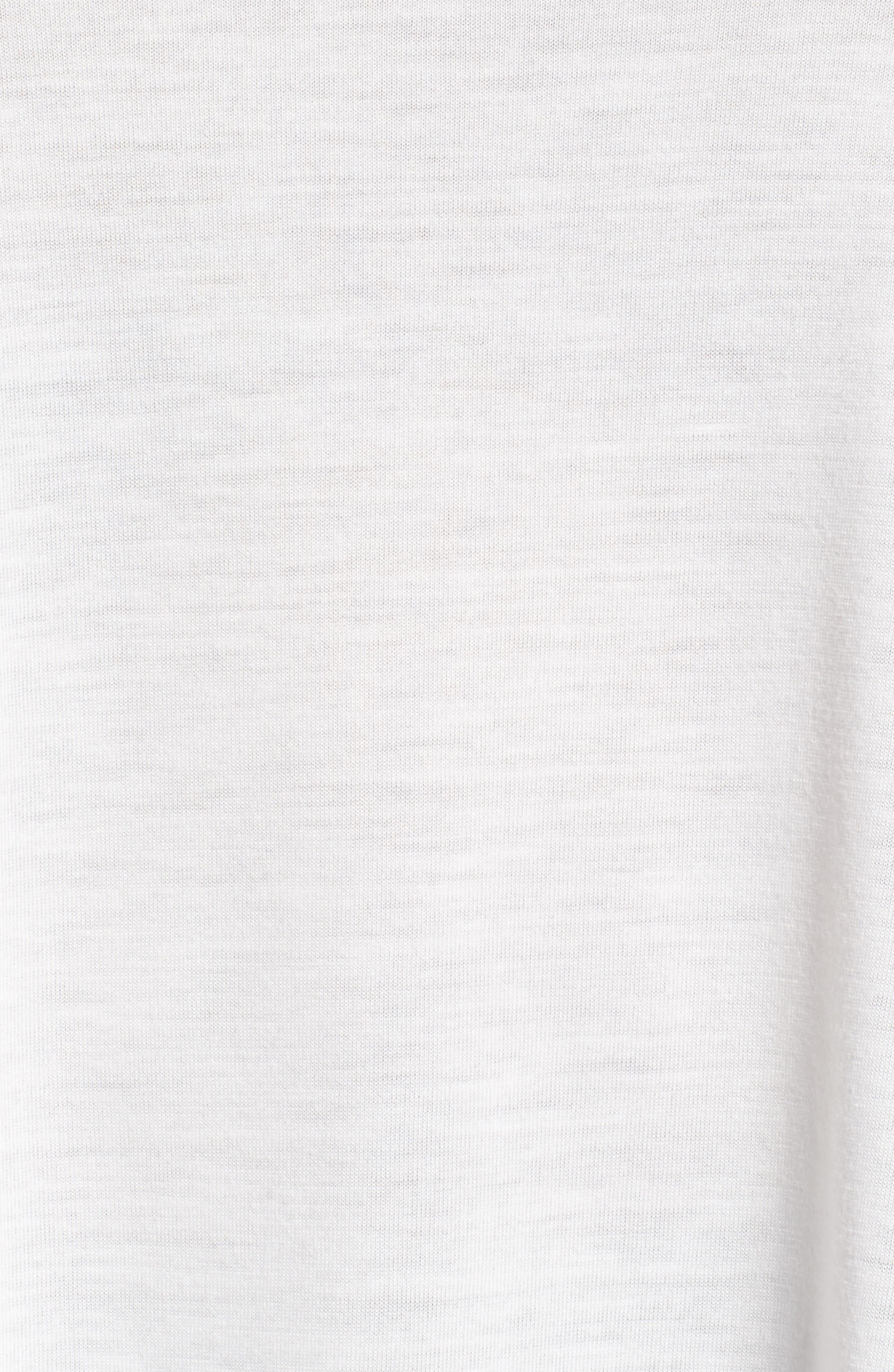 Alternate Image 5  - Sejour Back Tie Long Sleeve Swing Tee (Plus Size)
