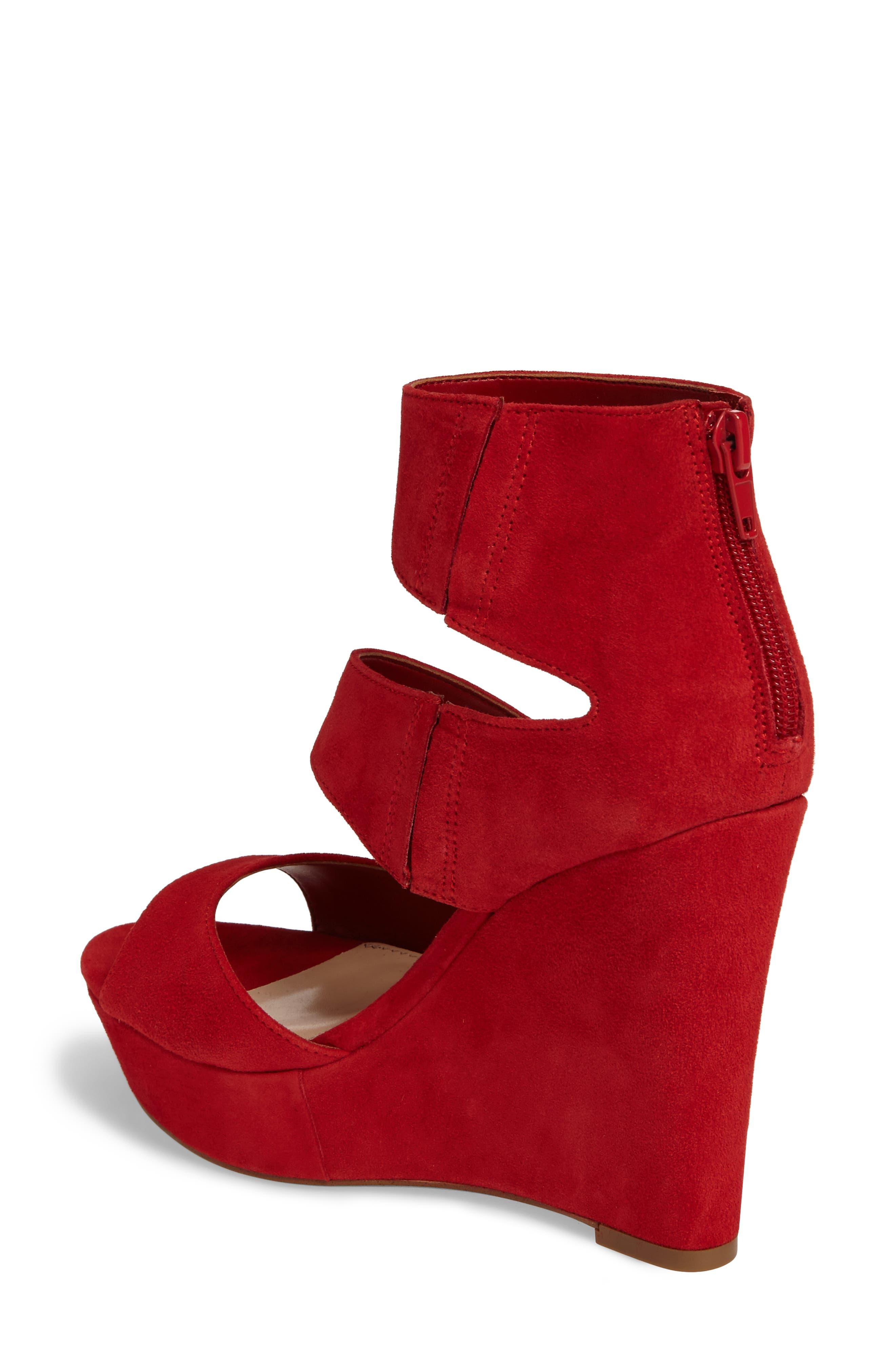 Alternate Image 2  - Steve Madden Essey Asymmetrical Platform Wedge Sandal (Women)