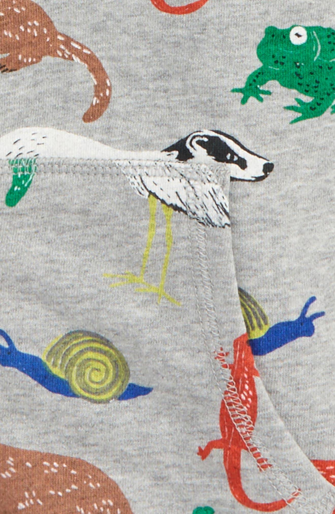 Alternate Image 2  - Mini Boden Animal Print Shaggy Hoodie (Toddler Boys, Little Boys & Big Boys)