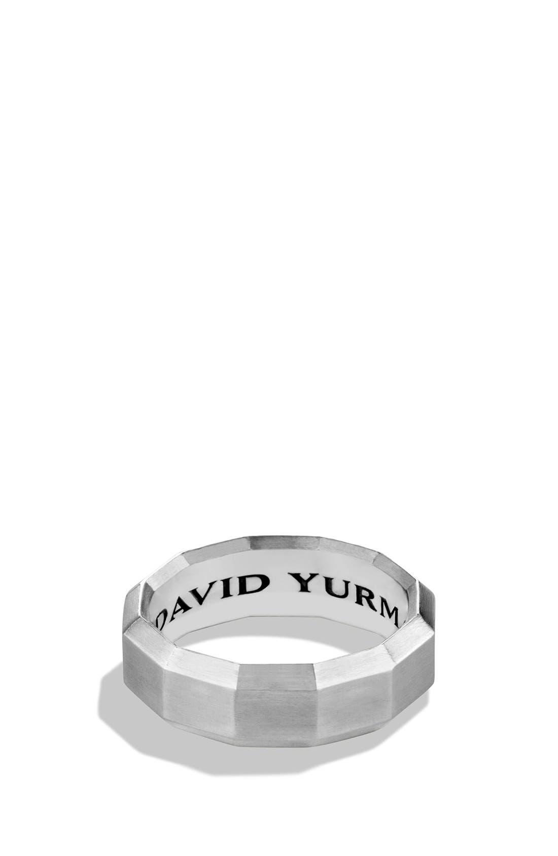 DAVID YURMAN Faceted Metal Band Ring