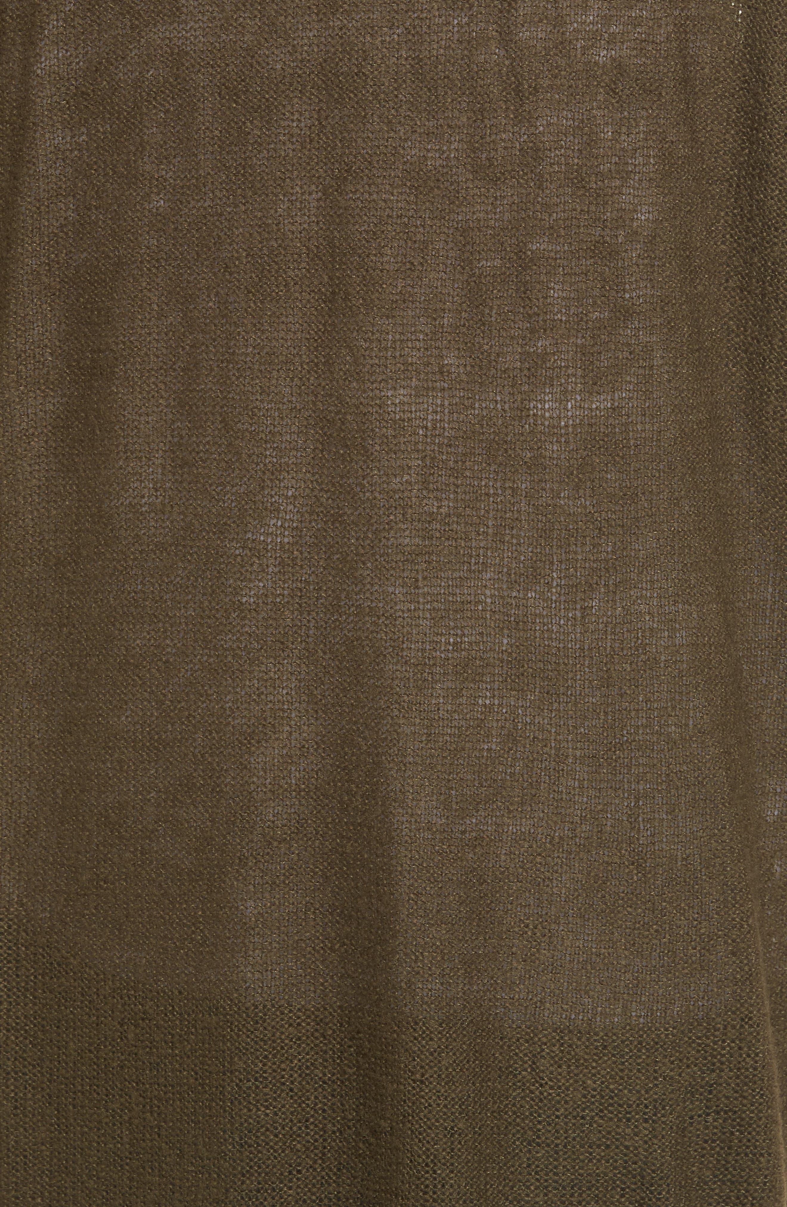 Alternate Image 5  - Press Tissue Knit Longline Cardigan