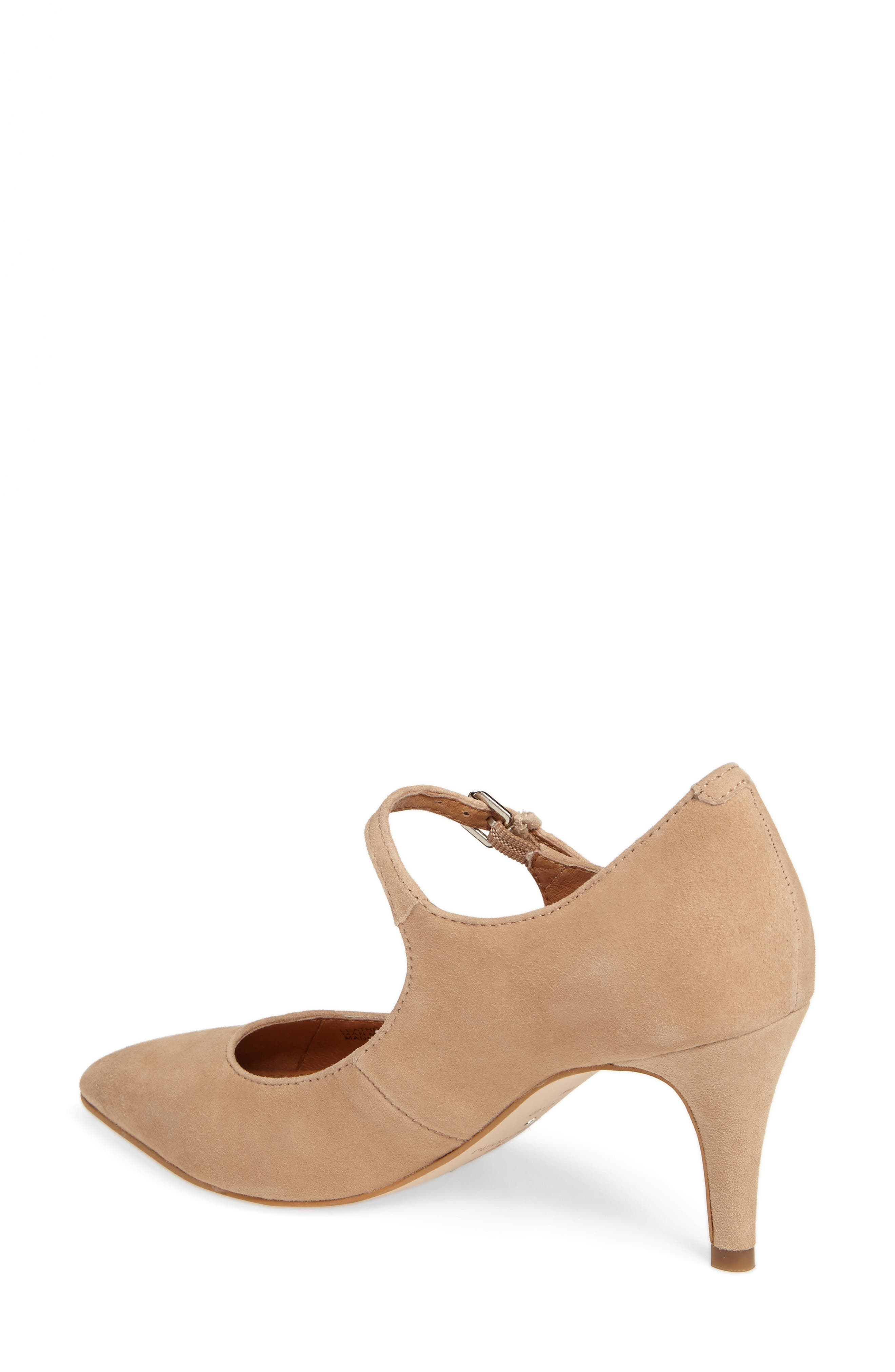 Coy Pointy Toe Pump,                             Alternate thumbnail 2, color,                             Dark Nude Suede