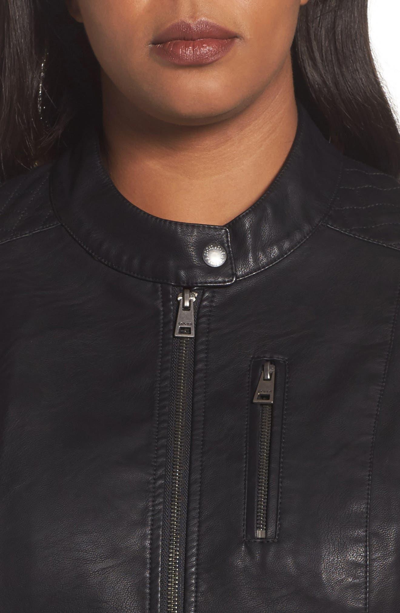 Alternate Image 4  - LEVIS® Faux Leather Moto Jacket