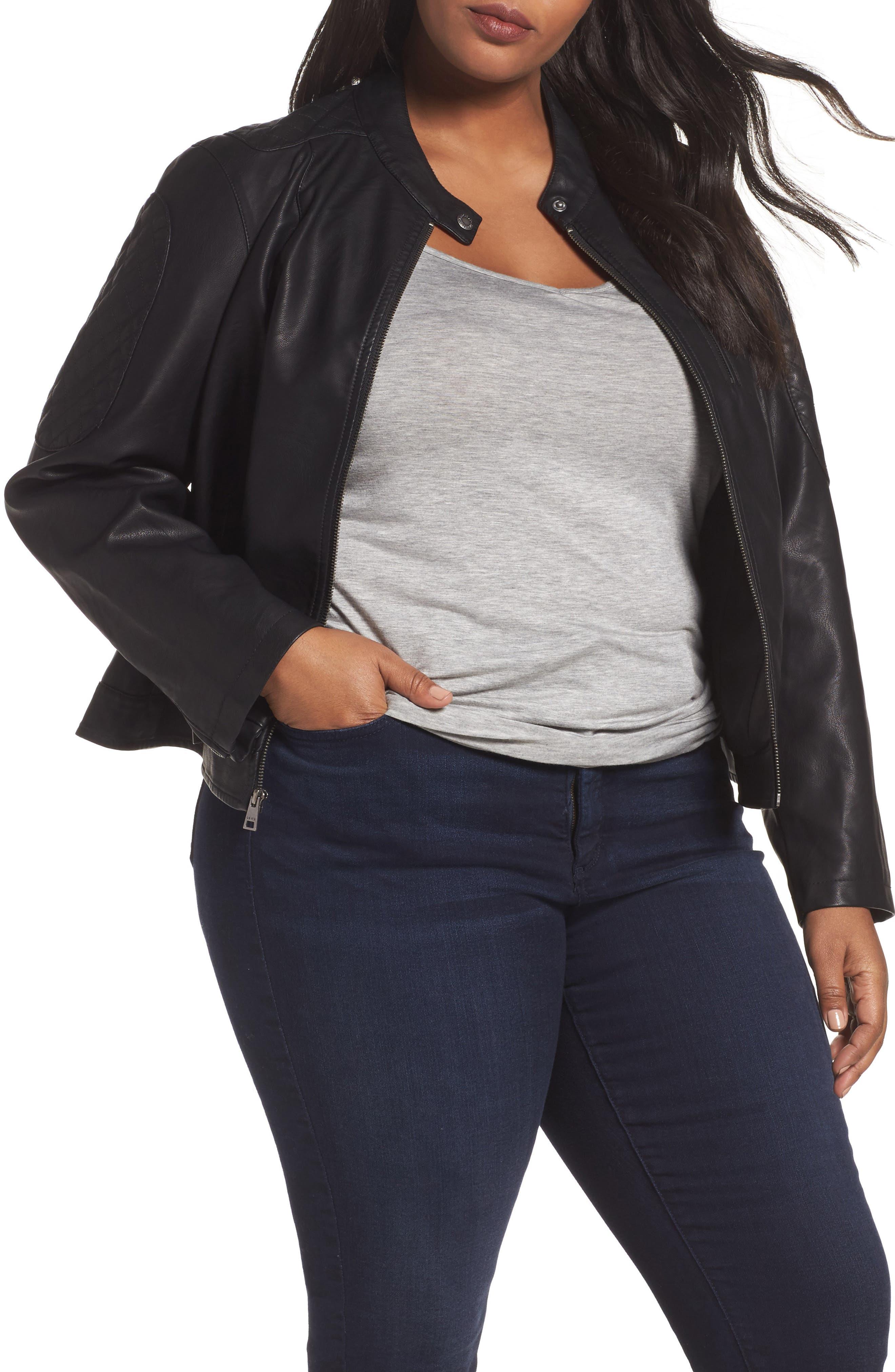 Main Image - LEVIS® Faux Leather Moto Jacket