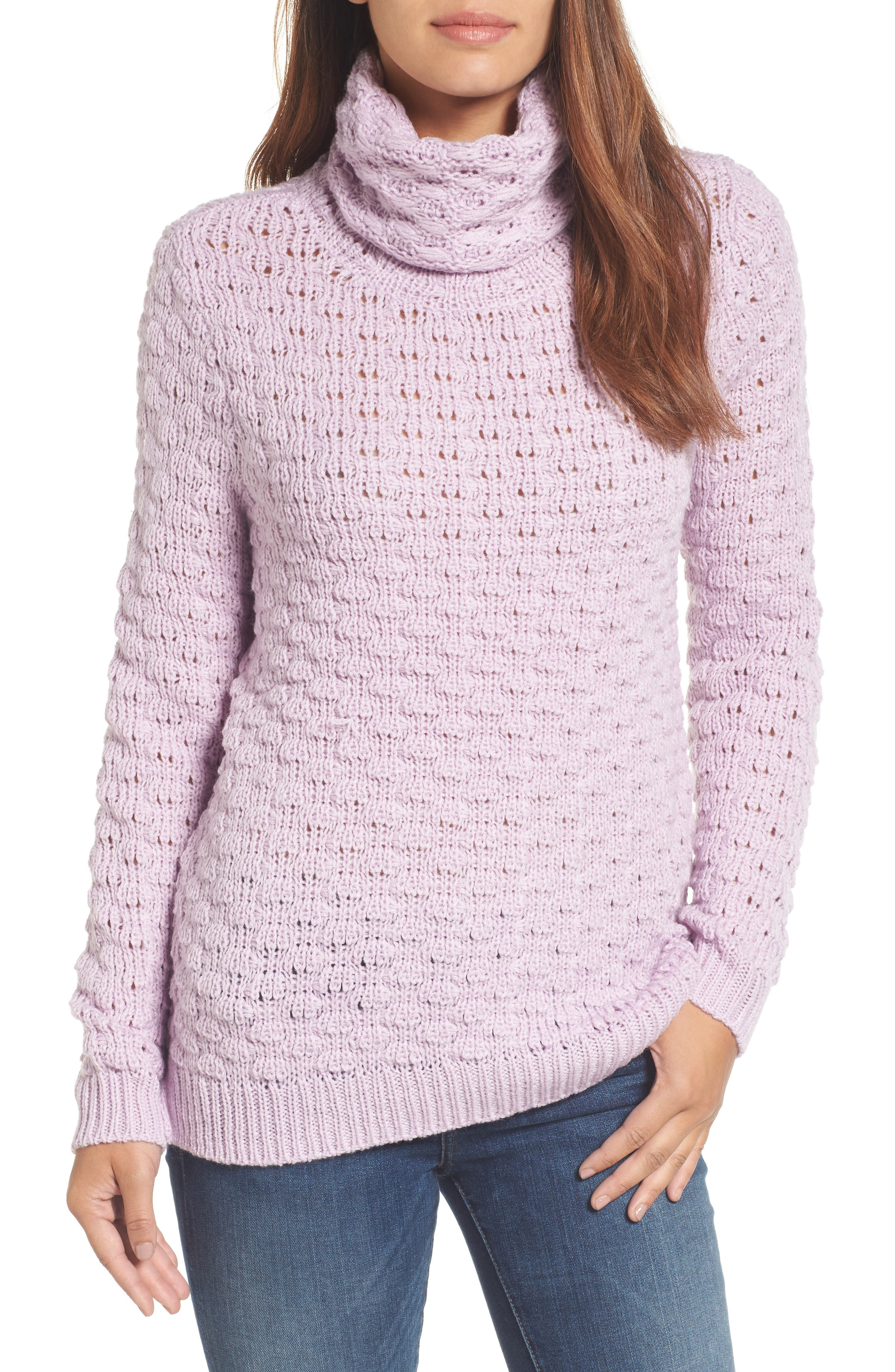 Main Image - Halogen® Bubble Stitch Sweater (Regular & Petite)