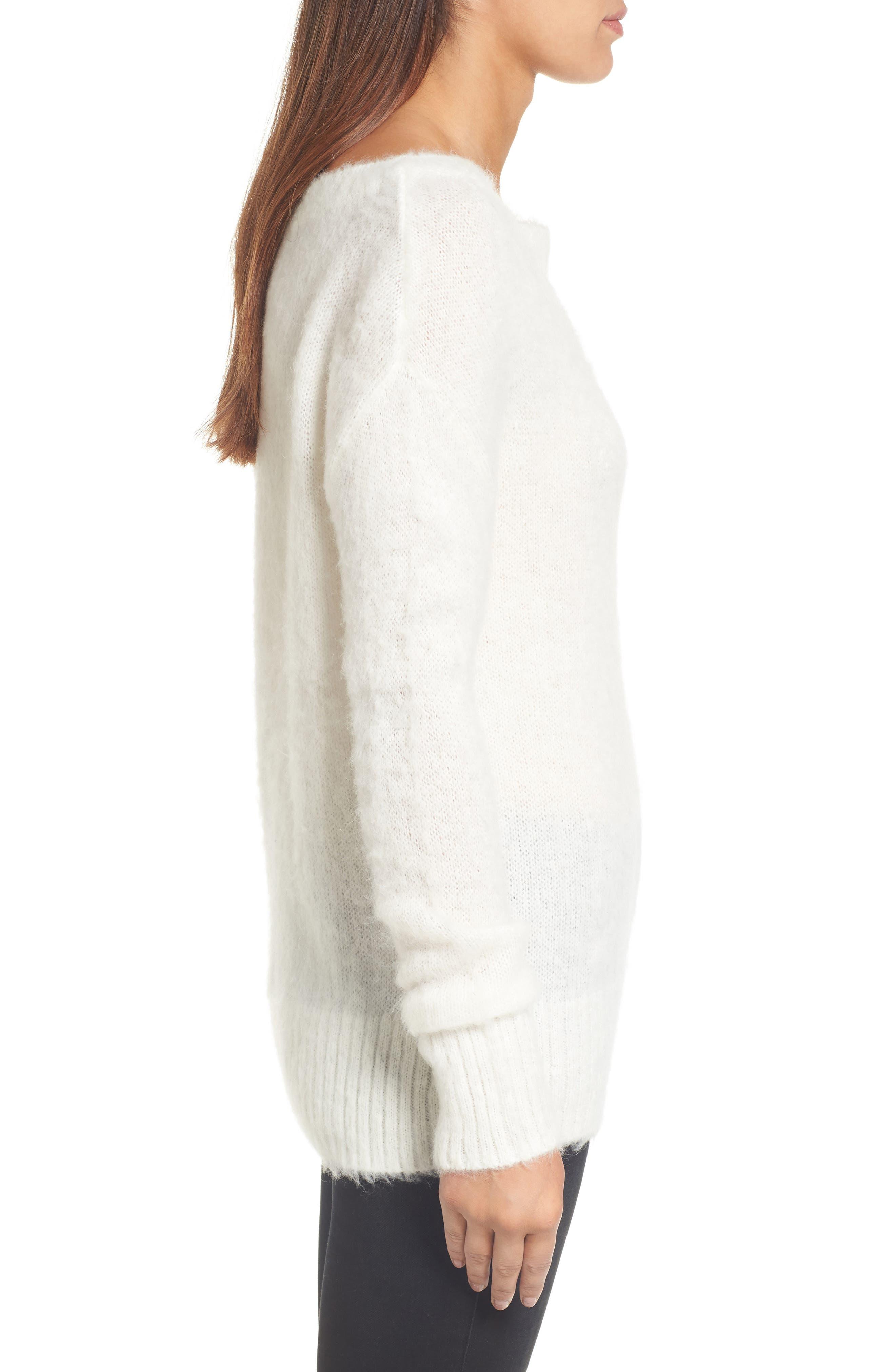 Alternate Image 3  - Caslon® Long Sleeve Brushed Sweater (Regular & Petite)