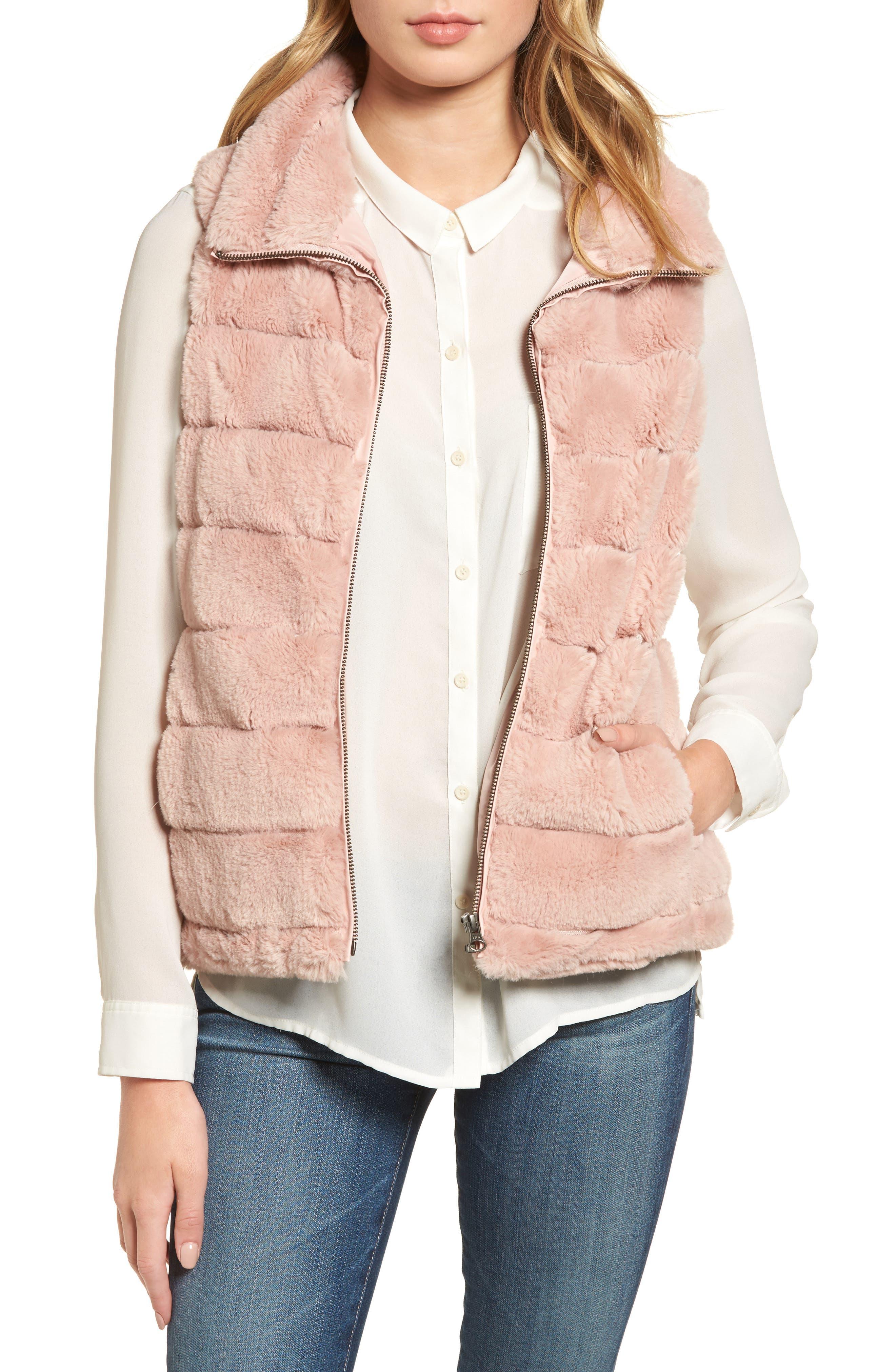 Alternate Image 1 Selected - Dylan Love Faux Fur Vest